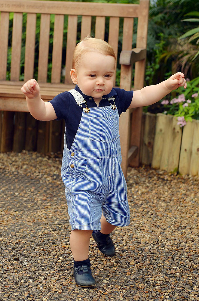 Prince George during a visit to the Sensational Butterflies exhibition at the Natural History Museum, London, July 2, 2014, in a photo released on July 19 to mark Prince George's first birthday.