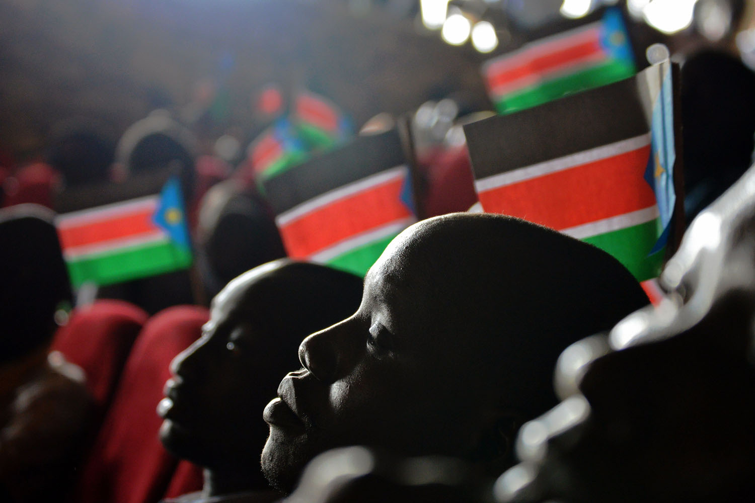 Jul. 29, 2014. Young people attend an anniversary celebration of the Red Army Foundation (RAF) in Juba. In the early 1980s, the SPLA recruited and began training boys as young as 12 to fight in its independence battle with Sudan, in a group called the Red Army.