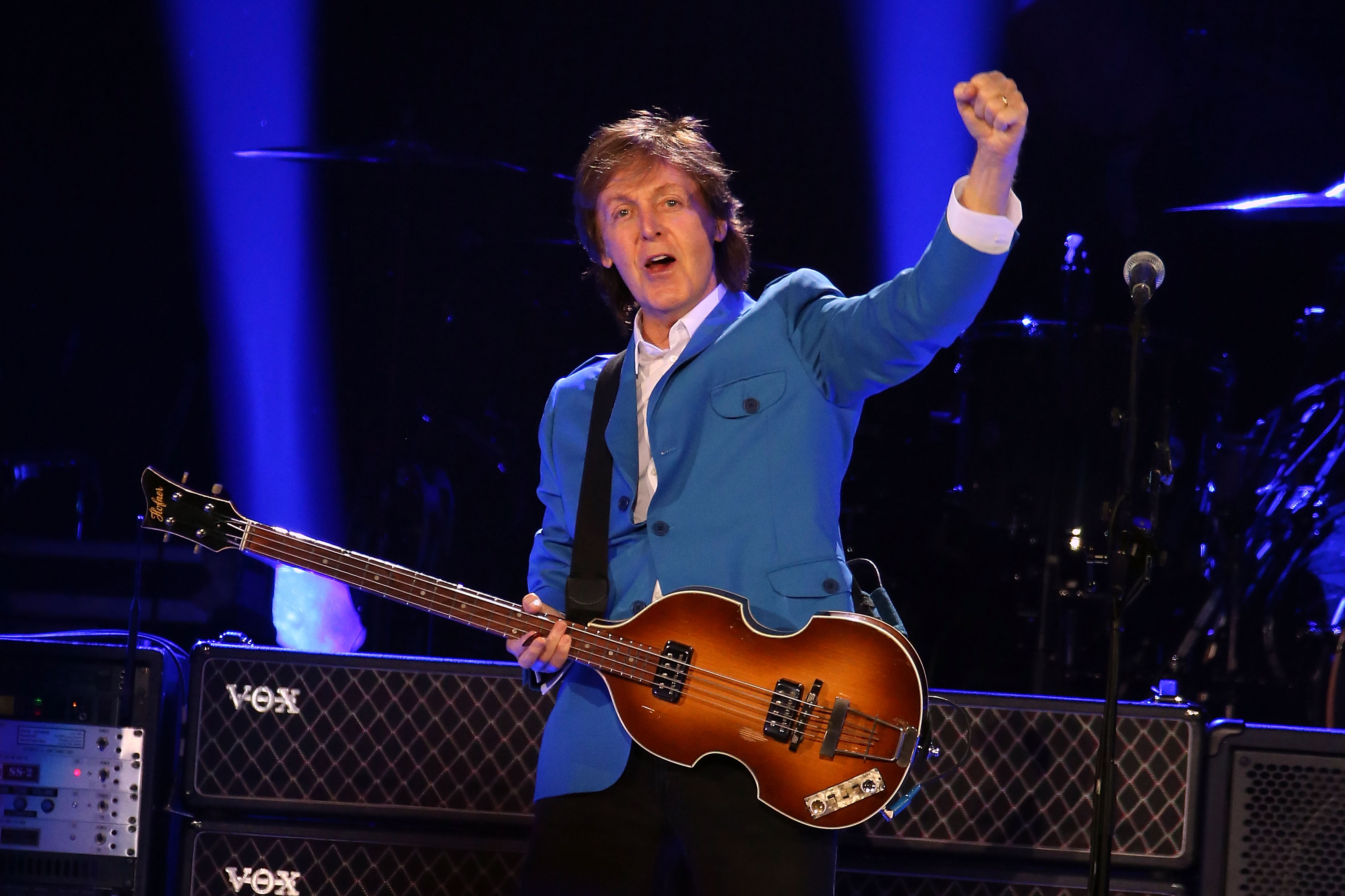 Sir Paul McCartney performs in concert at Times Union Center on July 5, 2014 in Albany, New York.