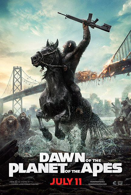 Dawn of the Planet of the Apes led the box office for the second consecutive weekend.