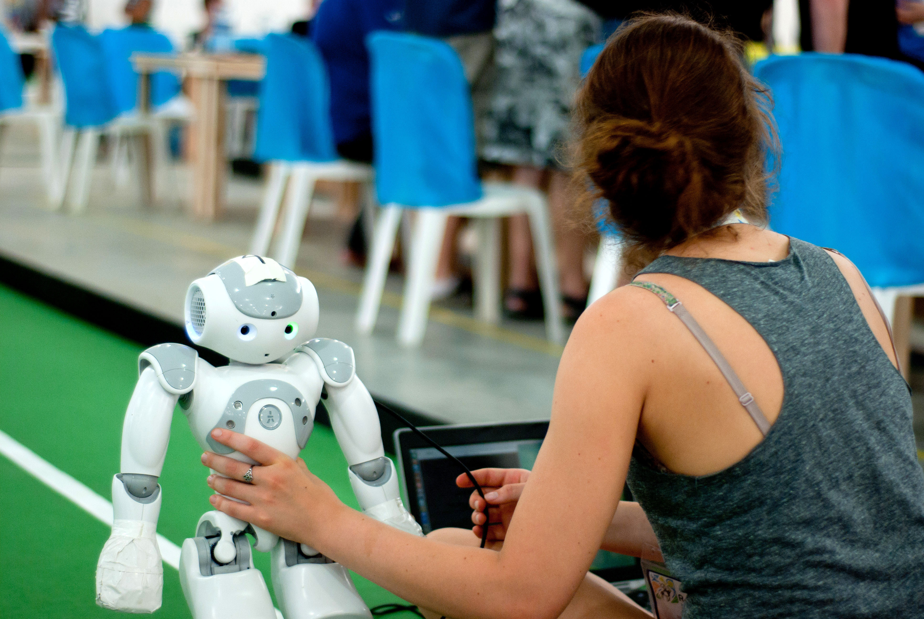 The first day of the RoboCup Robot Soccer Championship in João Pessoa, Brazil on July 21, 2014.