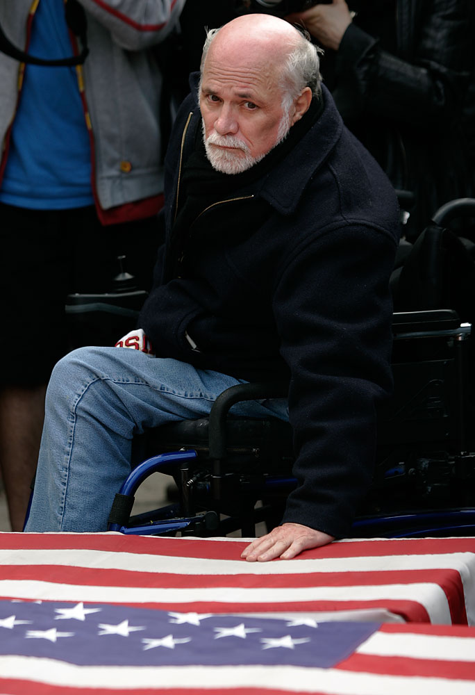 Ron Kovic (1946): joined the Marine Corps after graduating high school in 1964 and served several tours in Vietnam. After becoming paralyzed from the chest down, Kovic returned home and became a vocal anti-war activist. His 1976 memoir, Born on the Fourth of July, was made into an Oscar-winning movie by Oliver Stone starring Tom Cruise.