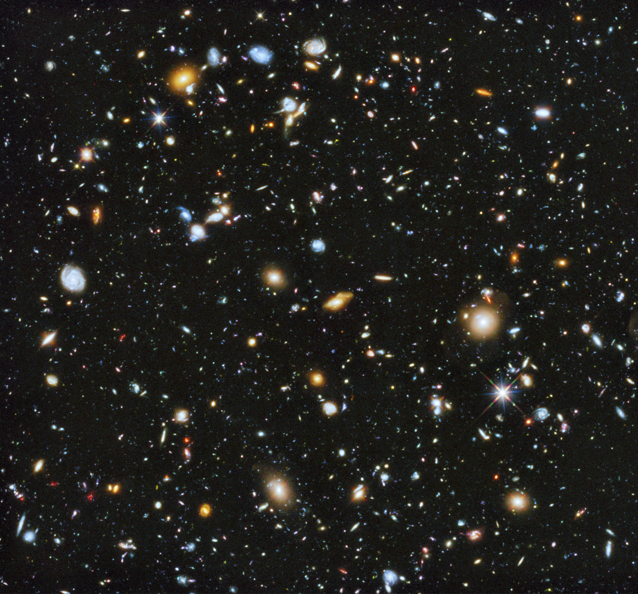 A composite of separate exposures taken in 2003 to 2012 with Hubble's Advanced Camera for Surveys and Wide Field Camera 3 of the evolving universe is shown in this handout photo provided by NASA, June 3, 2014.