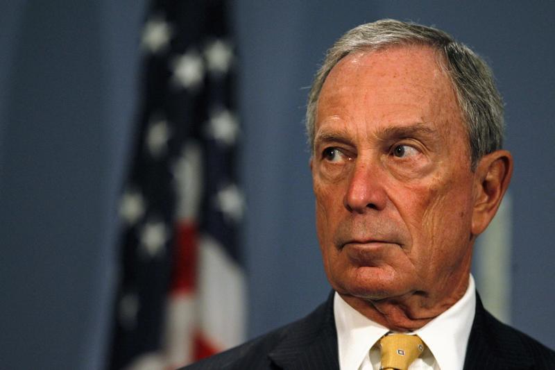 Then-New York City Mayor Michael Bloomberg speaks during a news conference at City Hall in New York, in 2013.