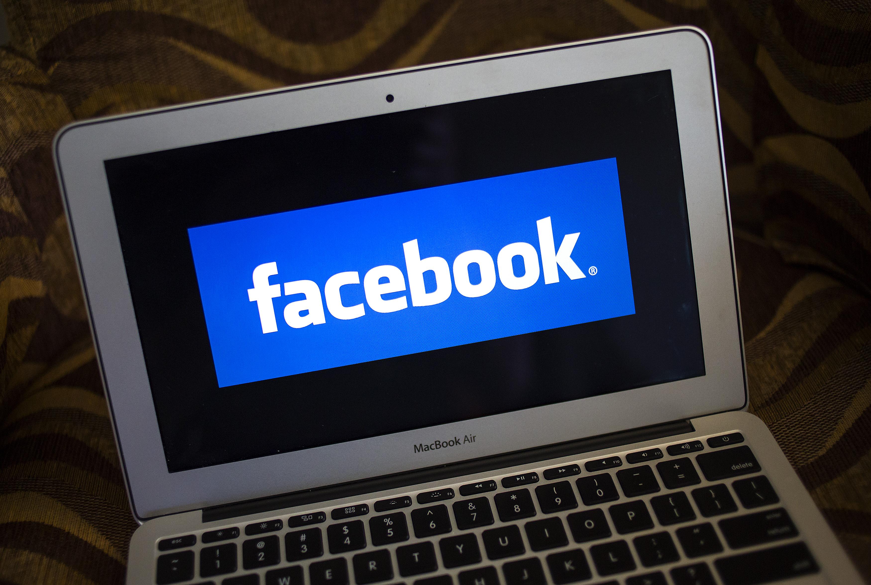 A portrait of the Facebook logo in Ventura, Calif., on Dec. 21, 2013