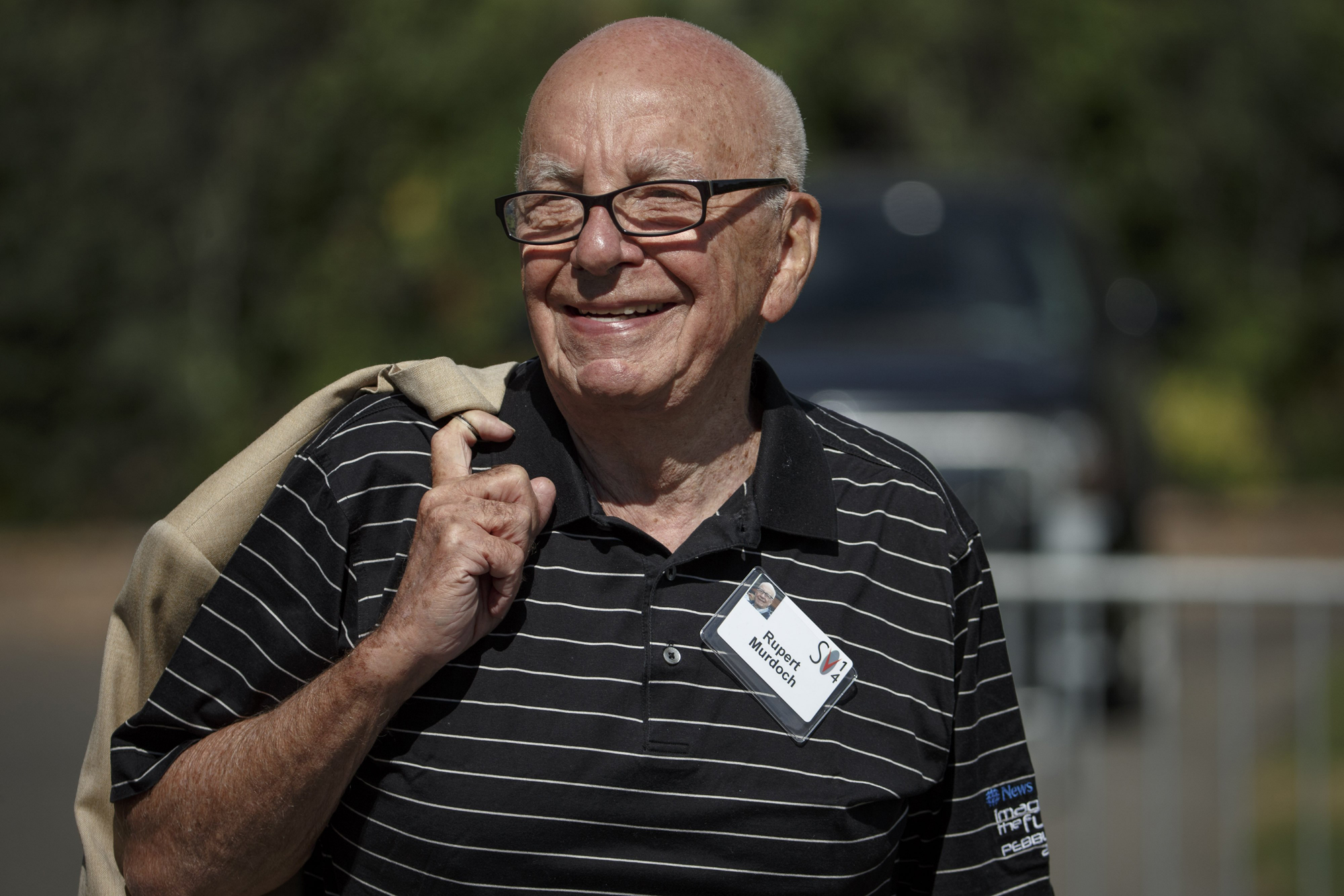 Rupert Murdoch, Executive Chairman of News Corp. and Chairman and CEO of 21st Century Fox, attends the Allen & Co. 32nd annual Media and Technology Conference, in Sun Valley, Idaho, July 10, 2014.