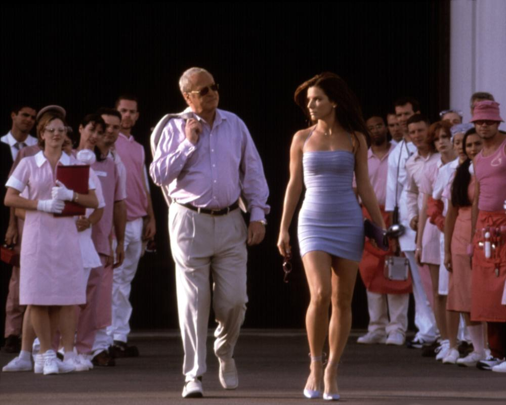 Sandra Bullock plays an undercover FBI agent attempting to walk the walk as a beauty contestant in 2000's  Miss Congeniality.  The romantic comedy featured Michael Caine (left) and garnered a second Golden Globe nomination for Bullock.