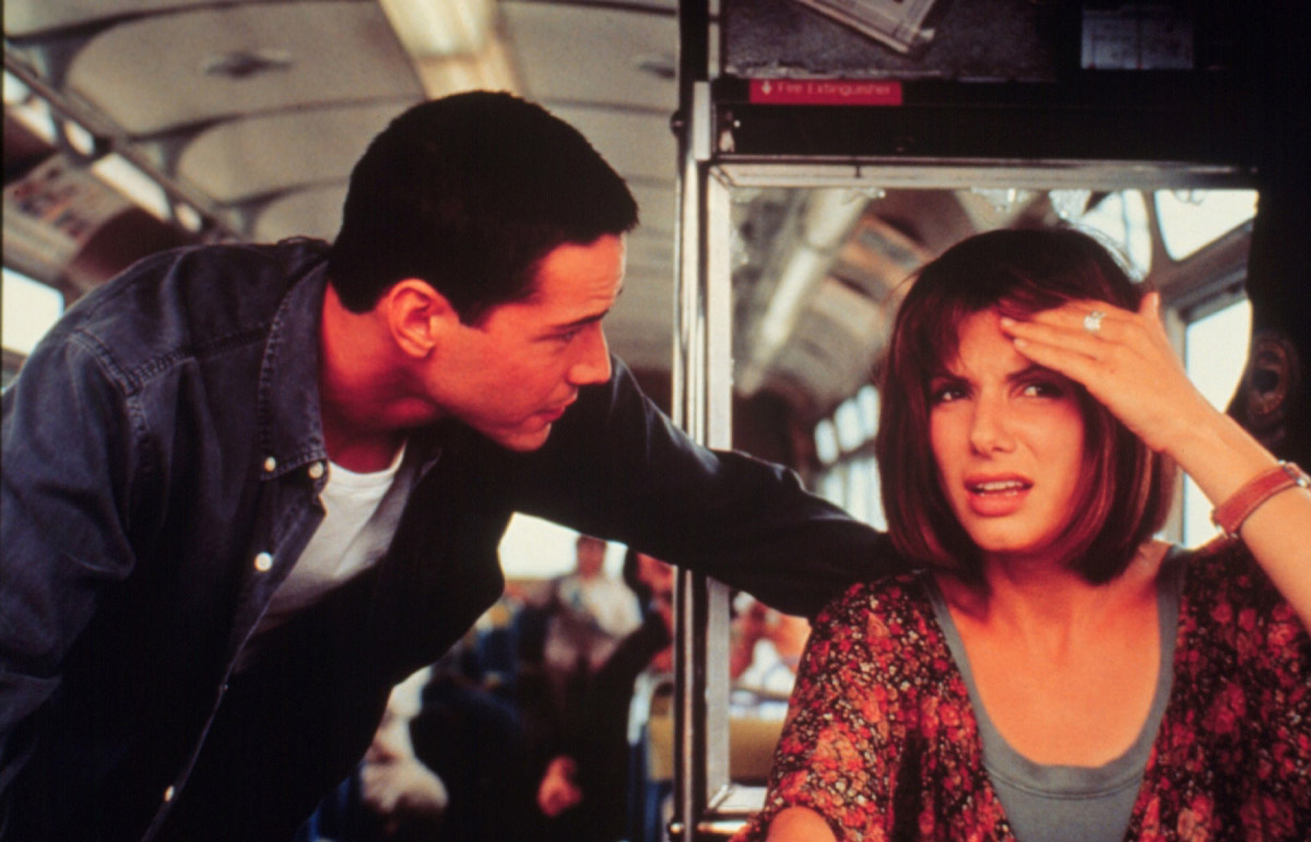 Bullock's real breakthrough came in 1994, starring alongside Keanu Reeves in  Speed  as the courageous bus passenger Annie Porter. The film won two Academy Awards and resulted in a sequel, in which Bullock reprised her role.