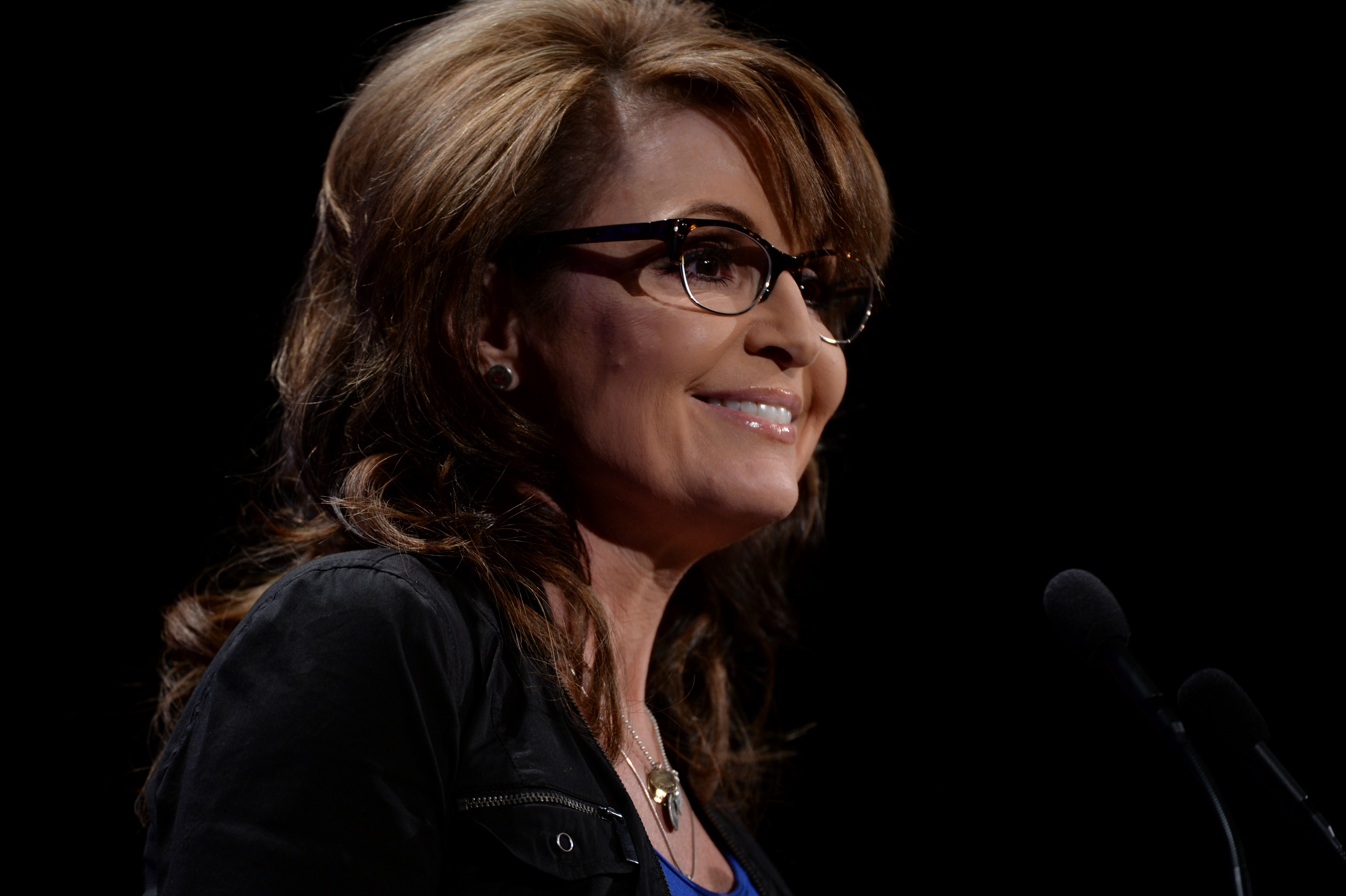 Former Alaska Governor and Republican vice presidential nominee Sarah Palin speaks to the crowd of Western Conservative Summit at Hyatt Regency in Denver on July 19. 2014.