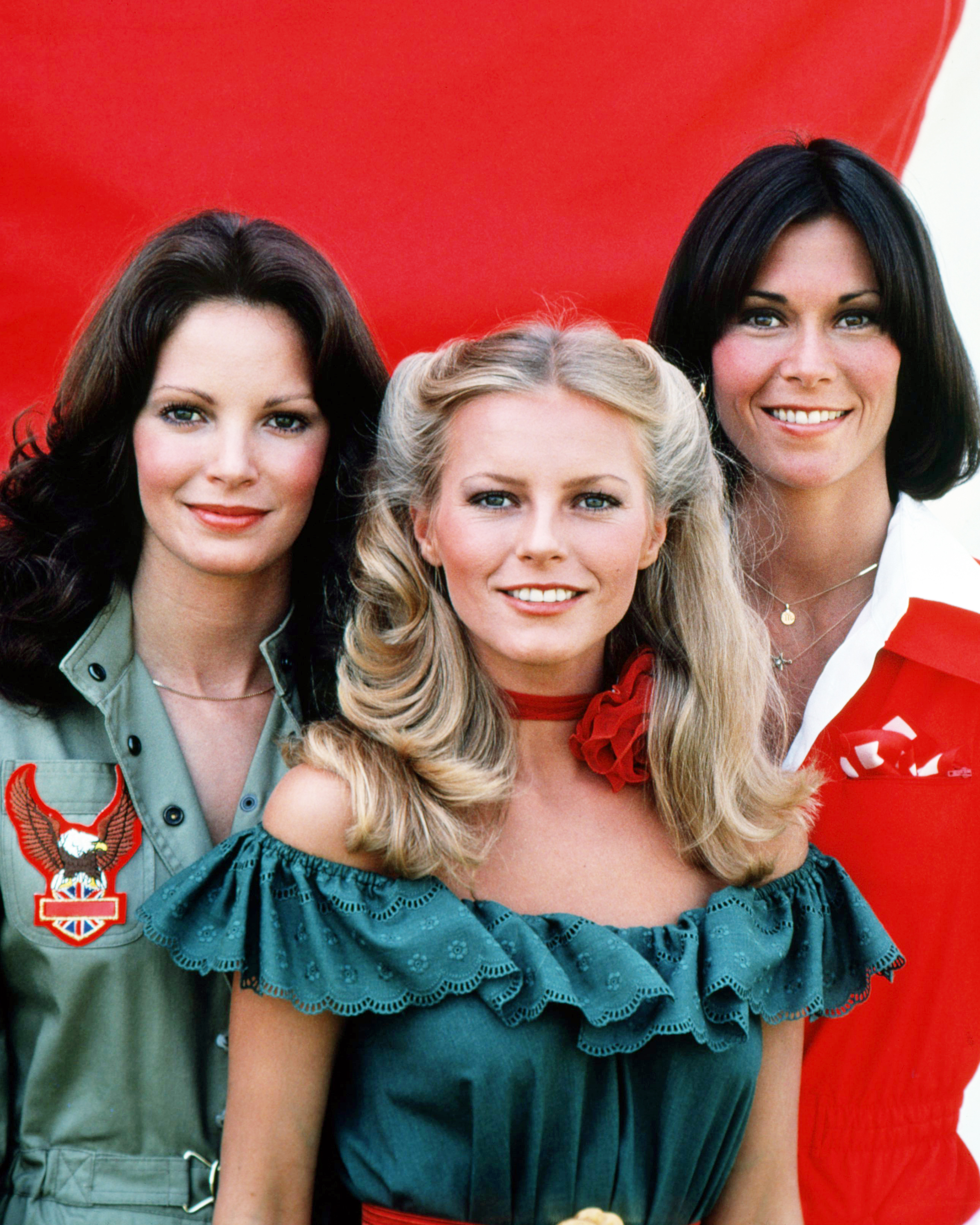 Actresses Jaclyn Smith, Cheryl Ladd and Kate Jackson, stars of  Charlie's Angels.