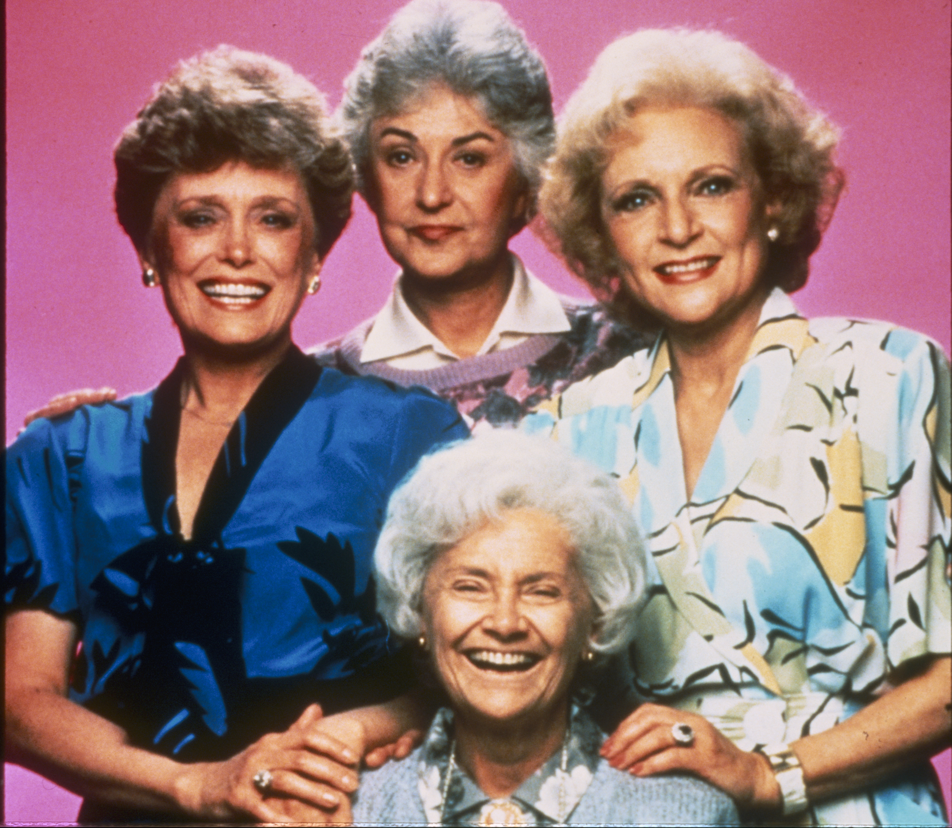 Bea Arthur, Betty White, Rue McClanahan and Estelle Getty in  Golden Girls.
