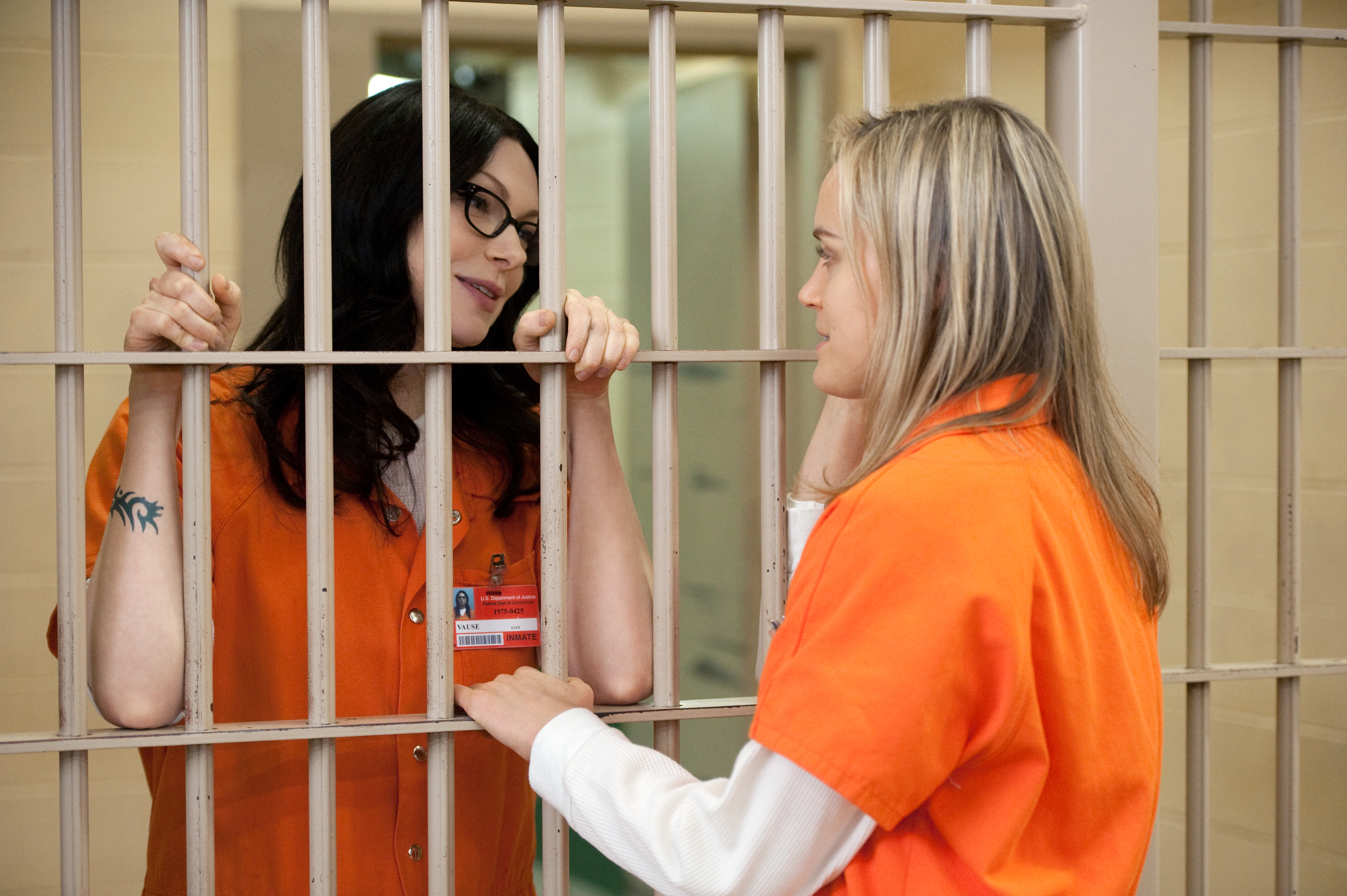 Laura Prepon and Taylor Schilling in Season 2 of 'Orange Is the New Black.'