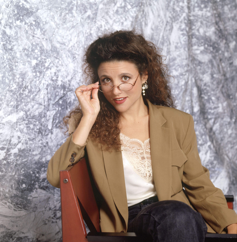 Julia Louis-Dreyfus as Elaine Benes in  Seinfeld.