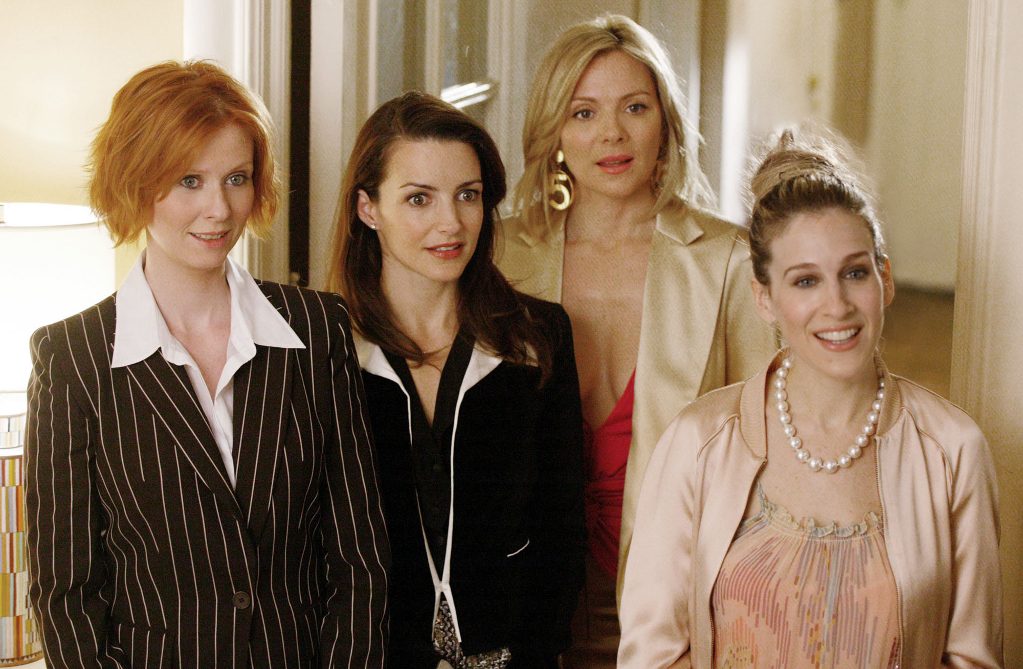 Cynthia Nixon, Kristin Davis, Kim Cattrall and Sarah Jessica Parker in  Sex and the City.
