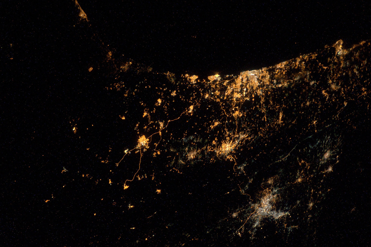 Jul. 24, 2014. European Space Agency, (ESA) astronaut Alexander Gerst,  My saddest photo yet. From the International Space Station we can actually see explosions and rockets flying over Gaza and Israel.