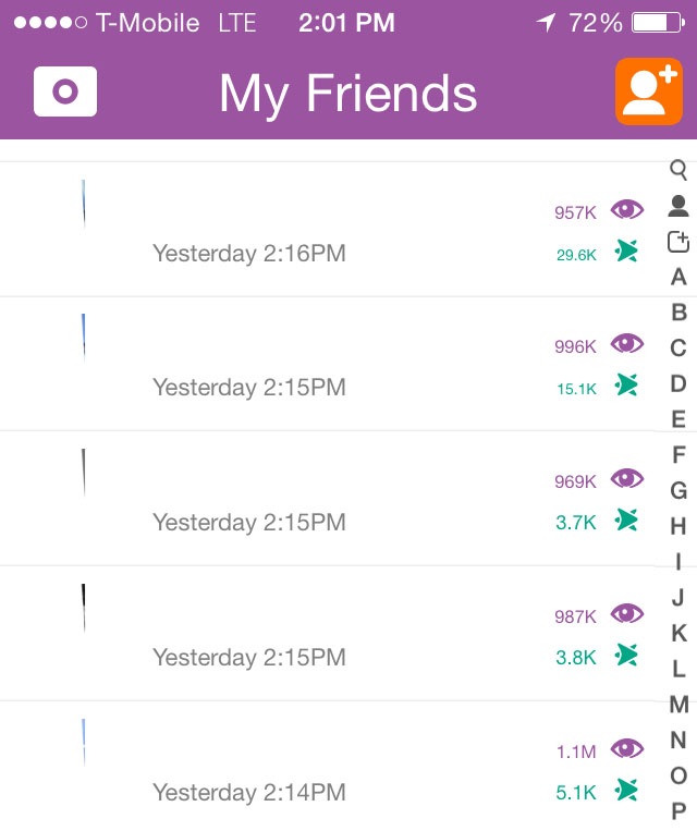 Snapchat story data shows how many people viewed and taken a screenshot of a user's content.