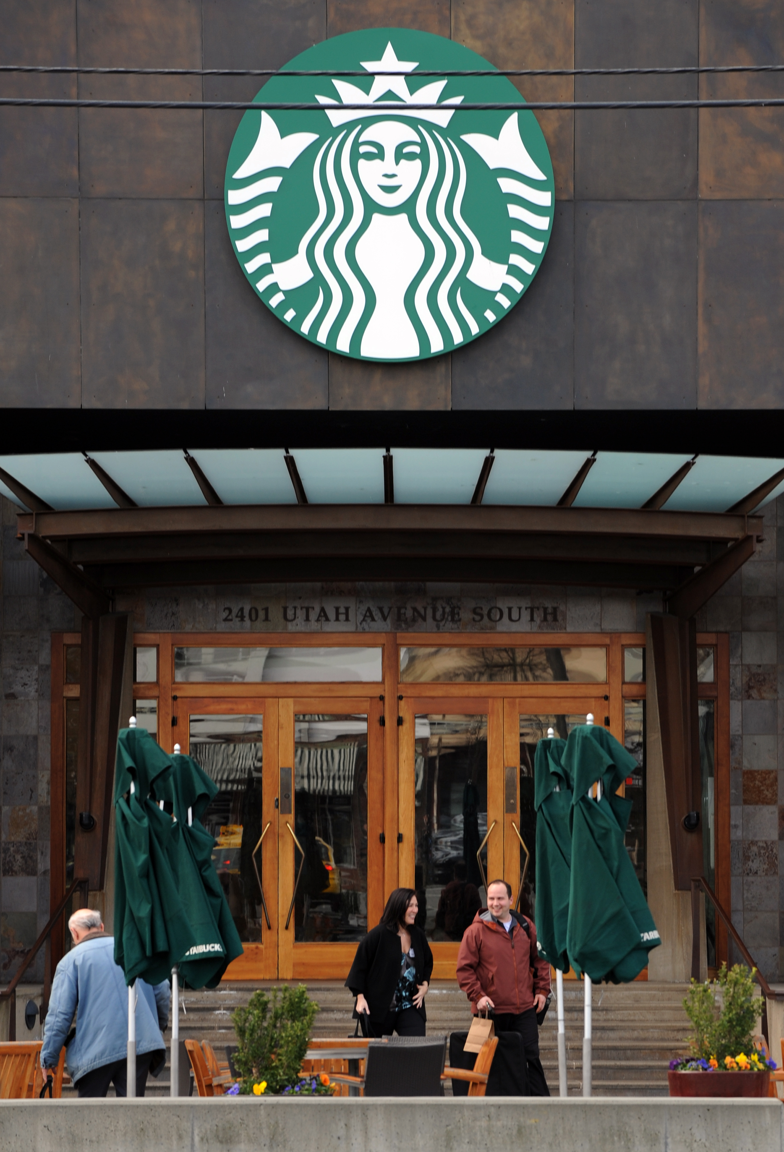 Starbucks Center, headquarters for the international coffee and coffeehouse chain, is seen on March 22, 2011 in Seattle, Washington.