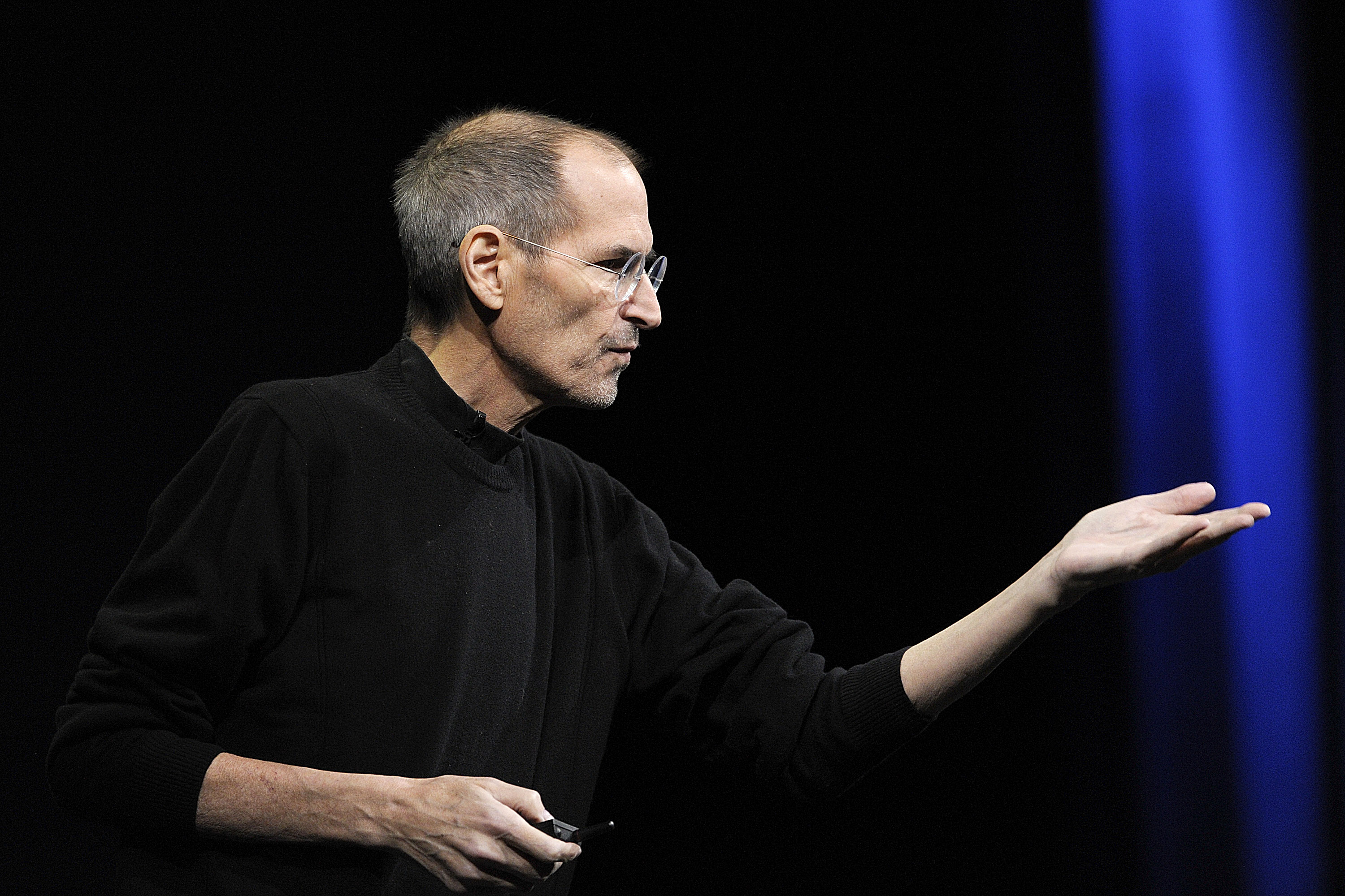 Steve Jobs, former chief executive officer of Apple Inc., unveils the iCloud storage system at the Apple Worldwide Developers Conference 2011.