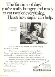 Sugar as a diet food appeared as an advertisement in the July 25, 1969 edition of Time Magazine.