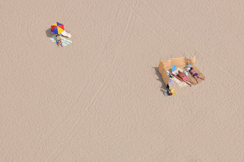 Sunbathers from Above