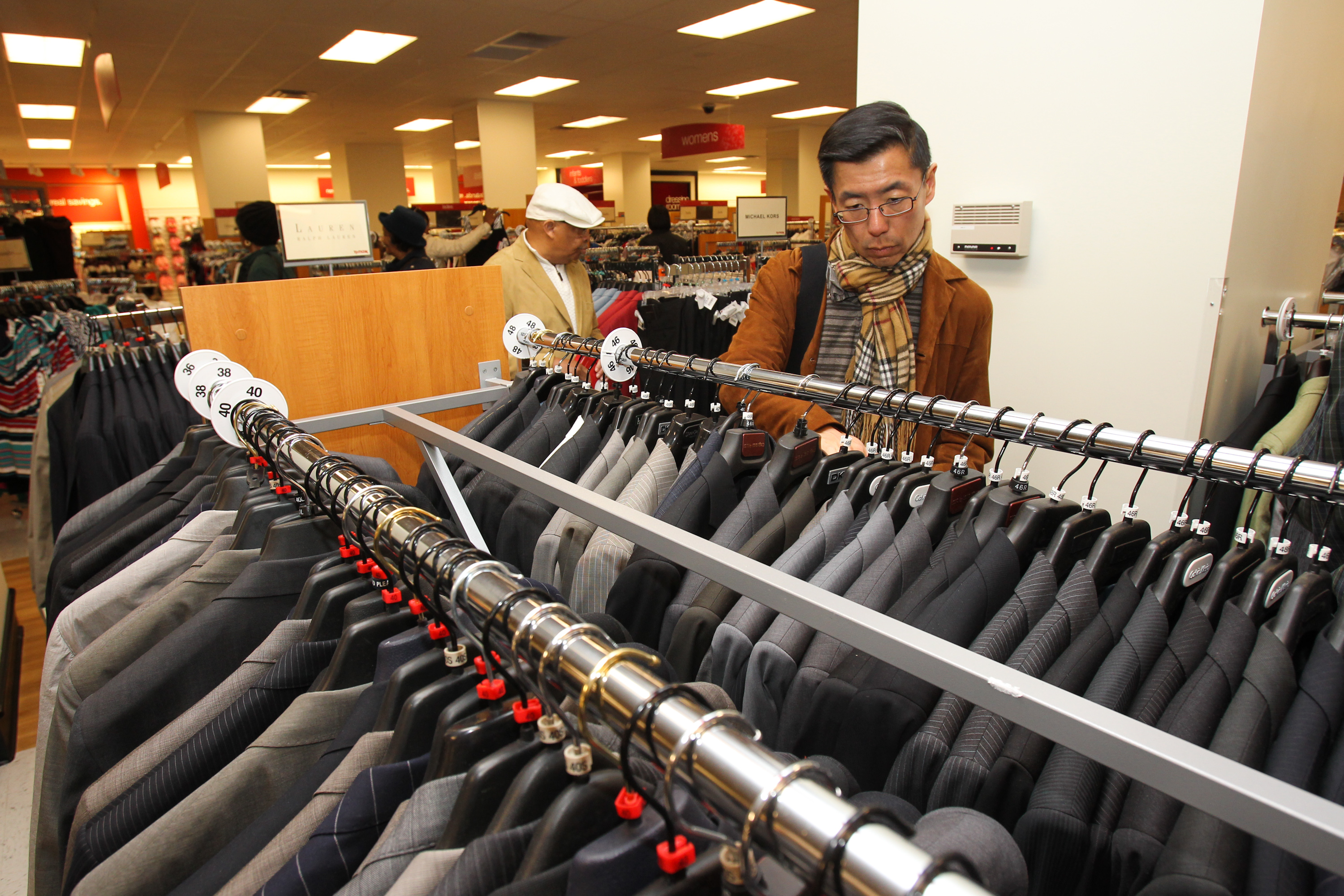 A customer shops at the opening of TJ Maxx's 1000th store on April 25, 2012 in Washington, DC.