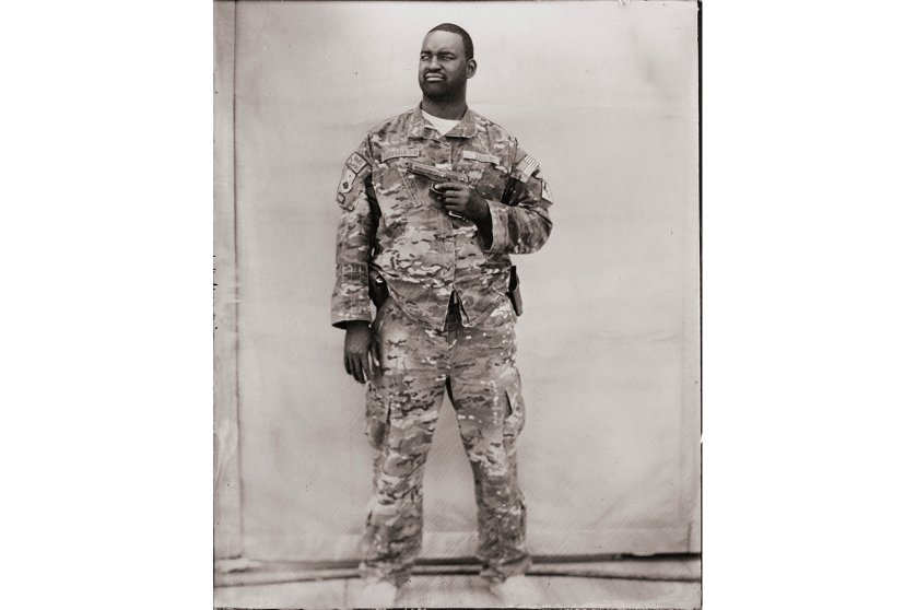 Ed Drew's tintype series of US soldiers