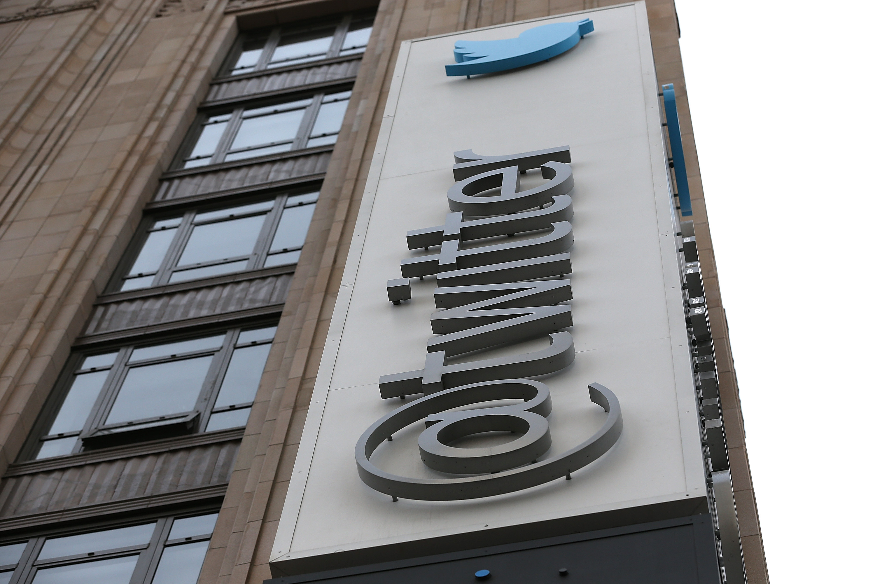 The exterior of the Twitter headquarters on February 5, 2014 in San Francisco, California.