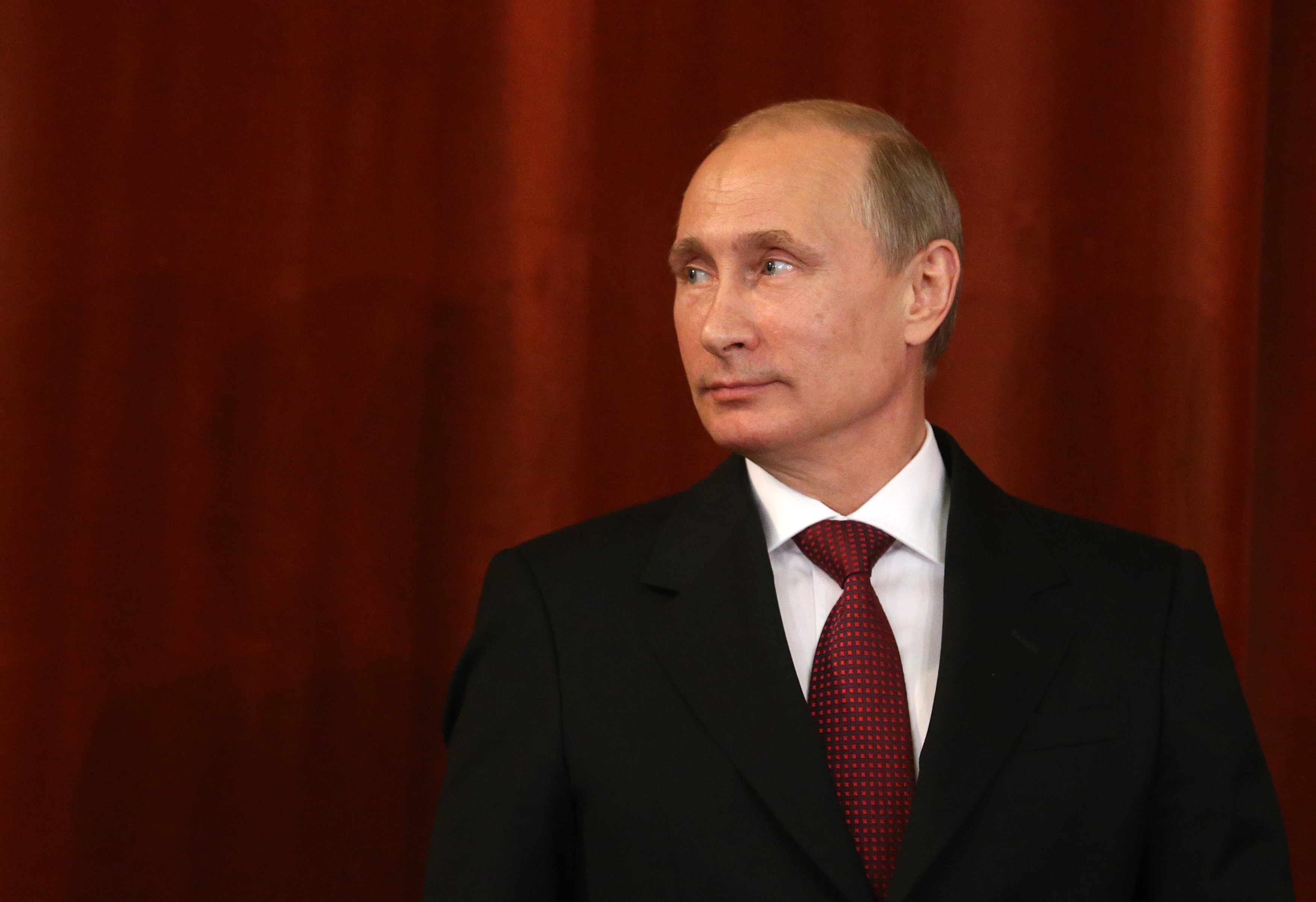 Russian President Vladimir Putin speaks during an annual meeting with ambassadors in the Ministry of Foreign Affairs on July 1, 2013 in Moscow, Russia.