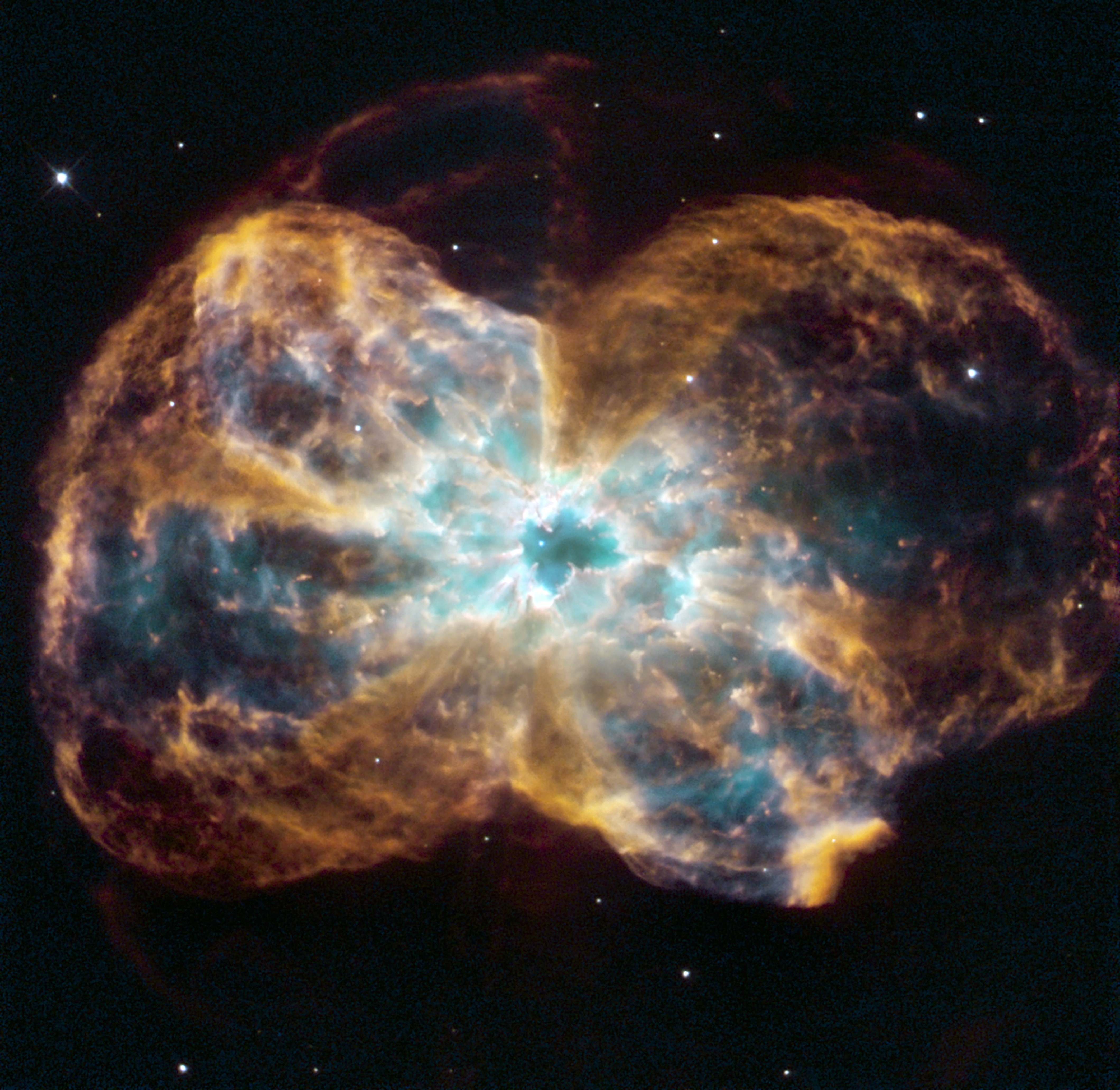 A burned-out star, called a white dwarf.