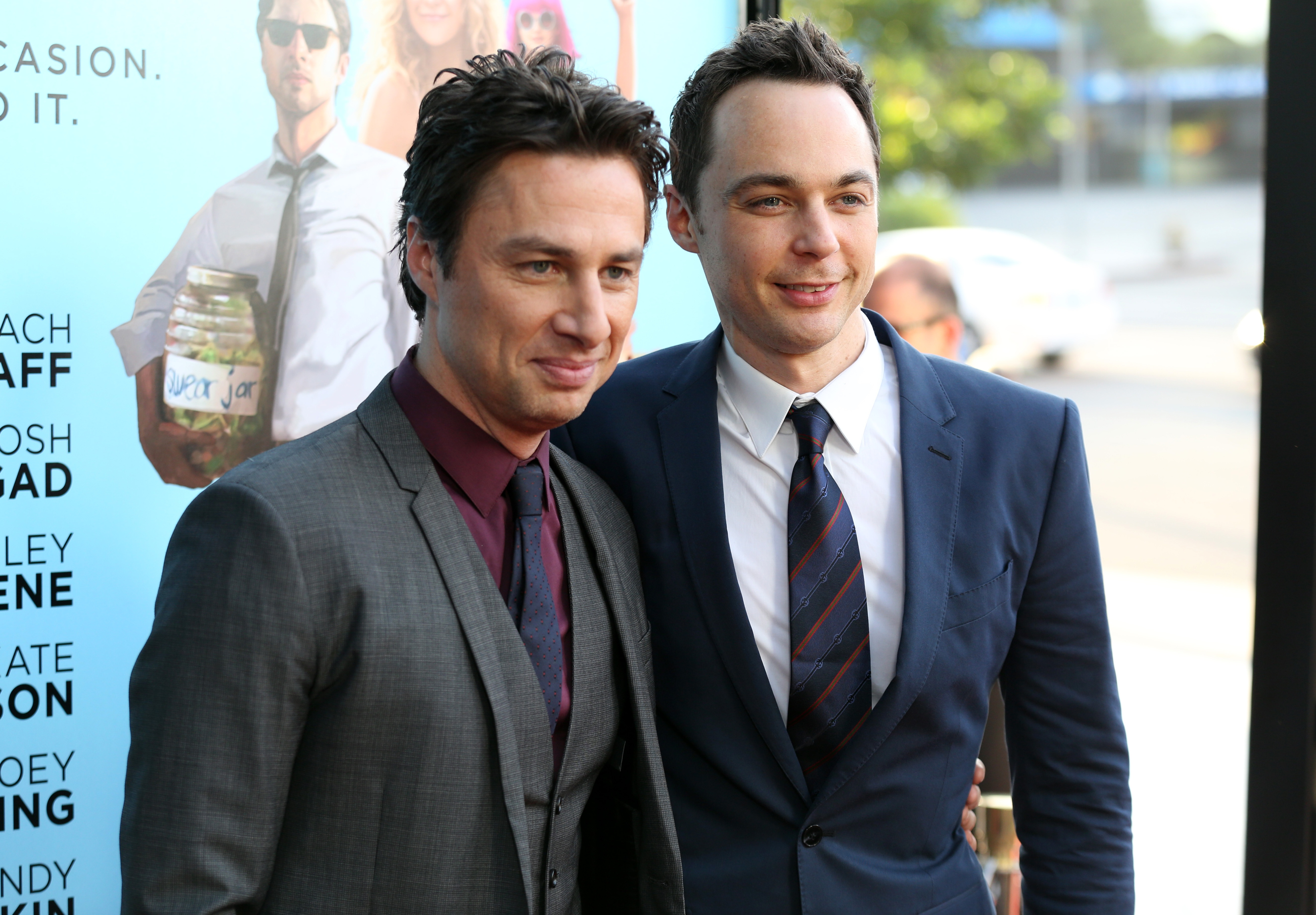 Zach Braf and Jim Parsons at the Los Angeles premiere of Wish I Was Here.