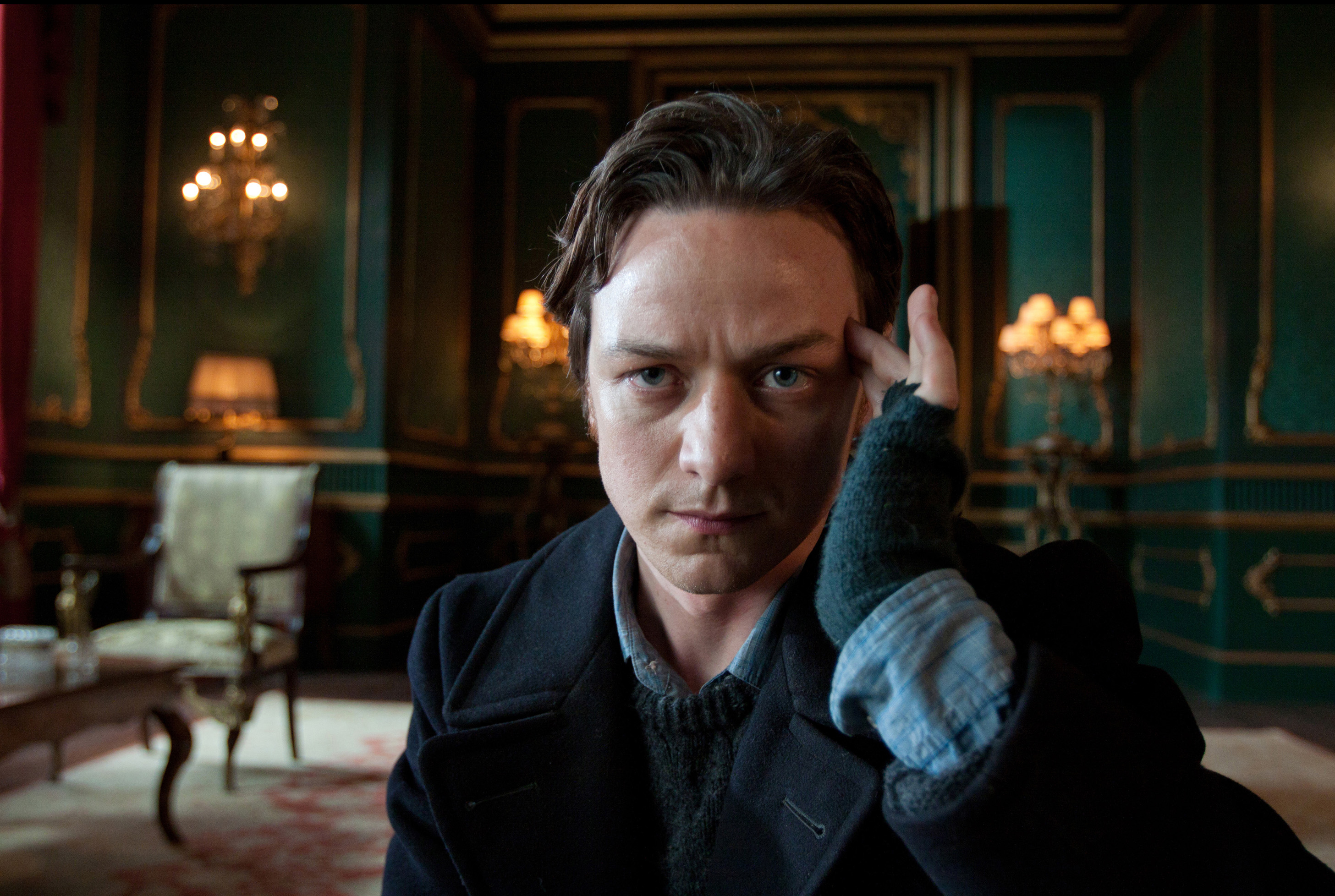 James McAvoy as Charles Xavier in  X-Men: First Class.