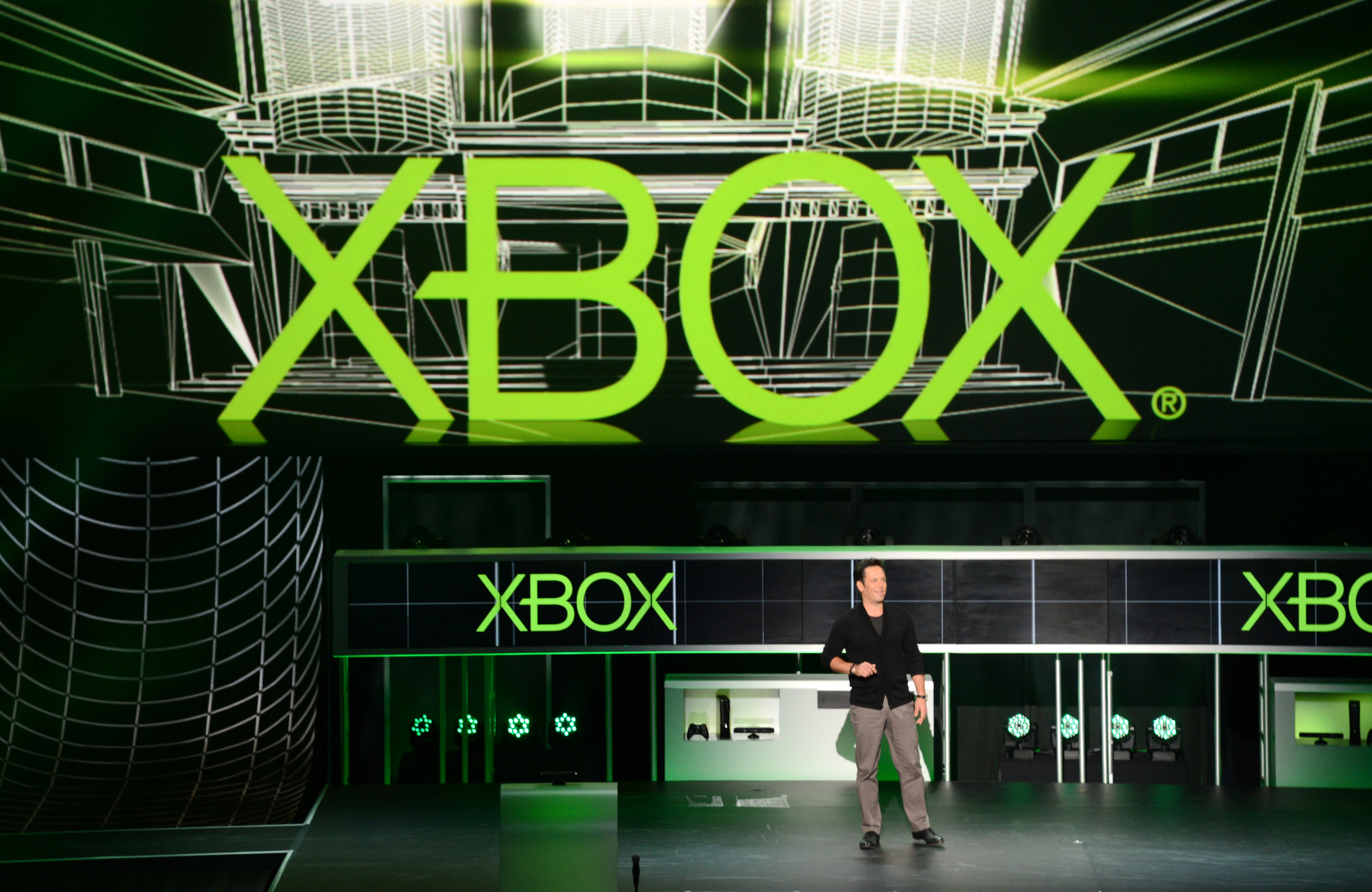 Corporate Vice President of Microsoft Studios Phil Spencer speaks at the Microsoft Xbox E3 2012 media briefing in Los Angeles on June 4, 2012.