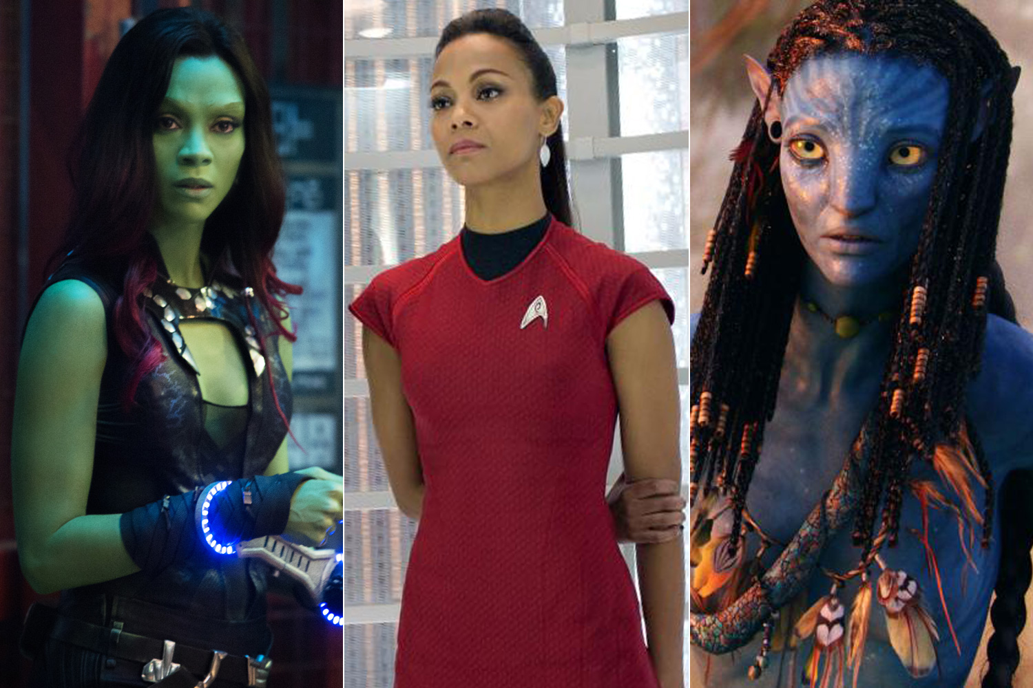 Guardians Of The Galaxy Star Trek And Avatar Zoe Saldana