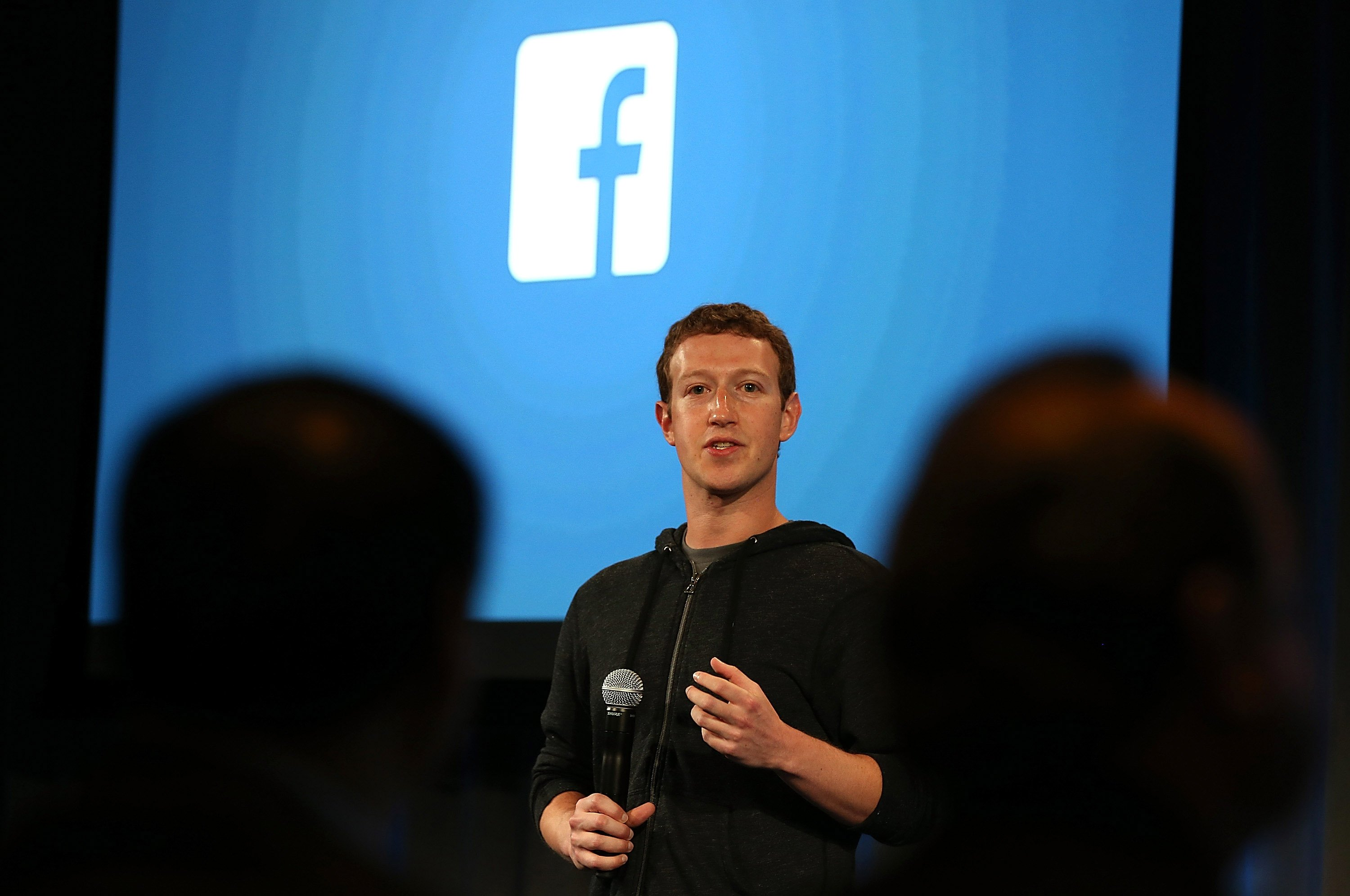Facebook CEO Mark Zuckerberg speaks during an event at Facebook headquarters on April 4, 2013 in Menlo Park, California