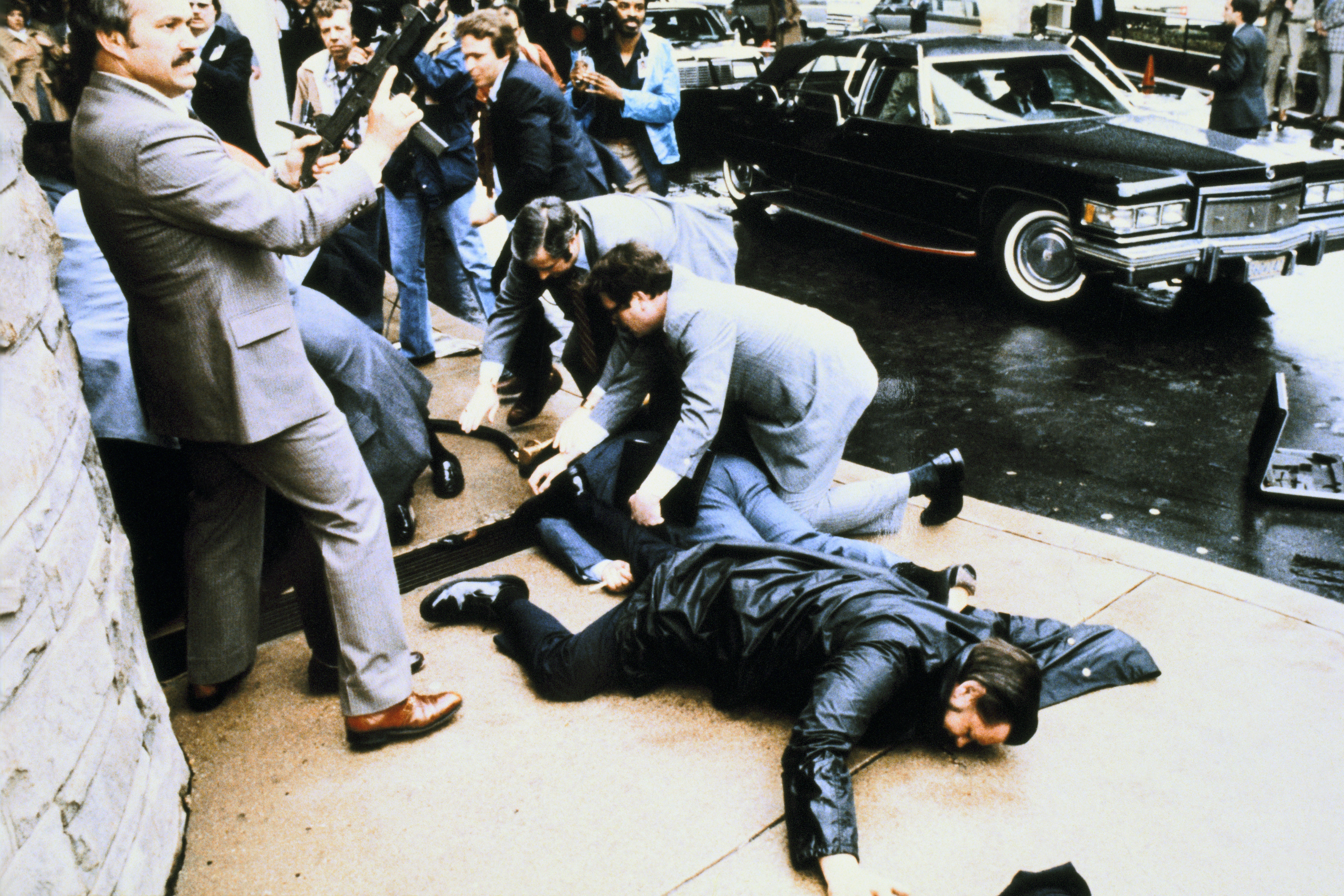 Assassination Attempt Against The President Ronald Reagan In 1981, March 30