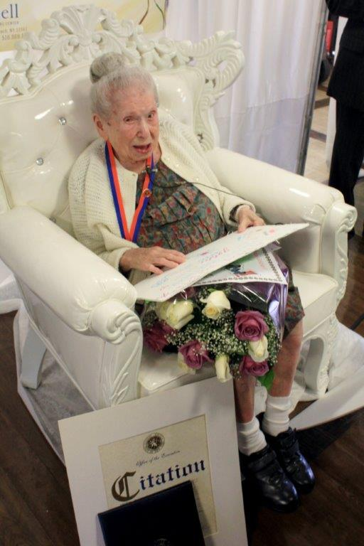 Goldie Steinberg was born on Oct. 30, 1900, and is 113 years old.