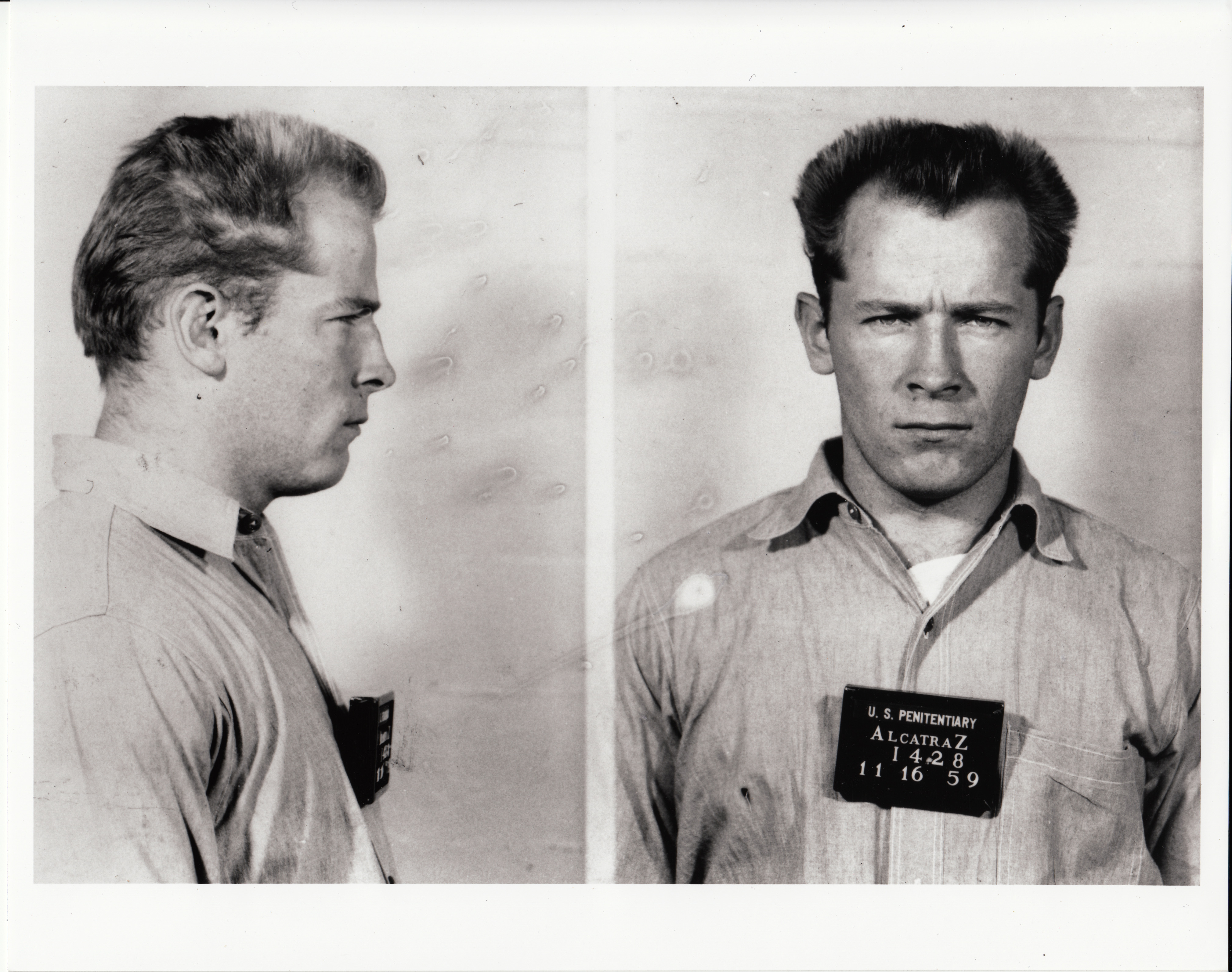Mugshot of James  Whitey  Bulger. Alcatraz Federal Penitentiary.