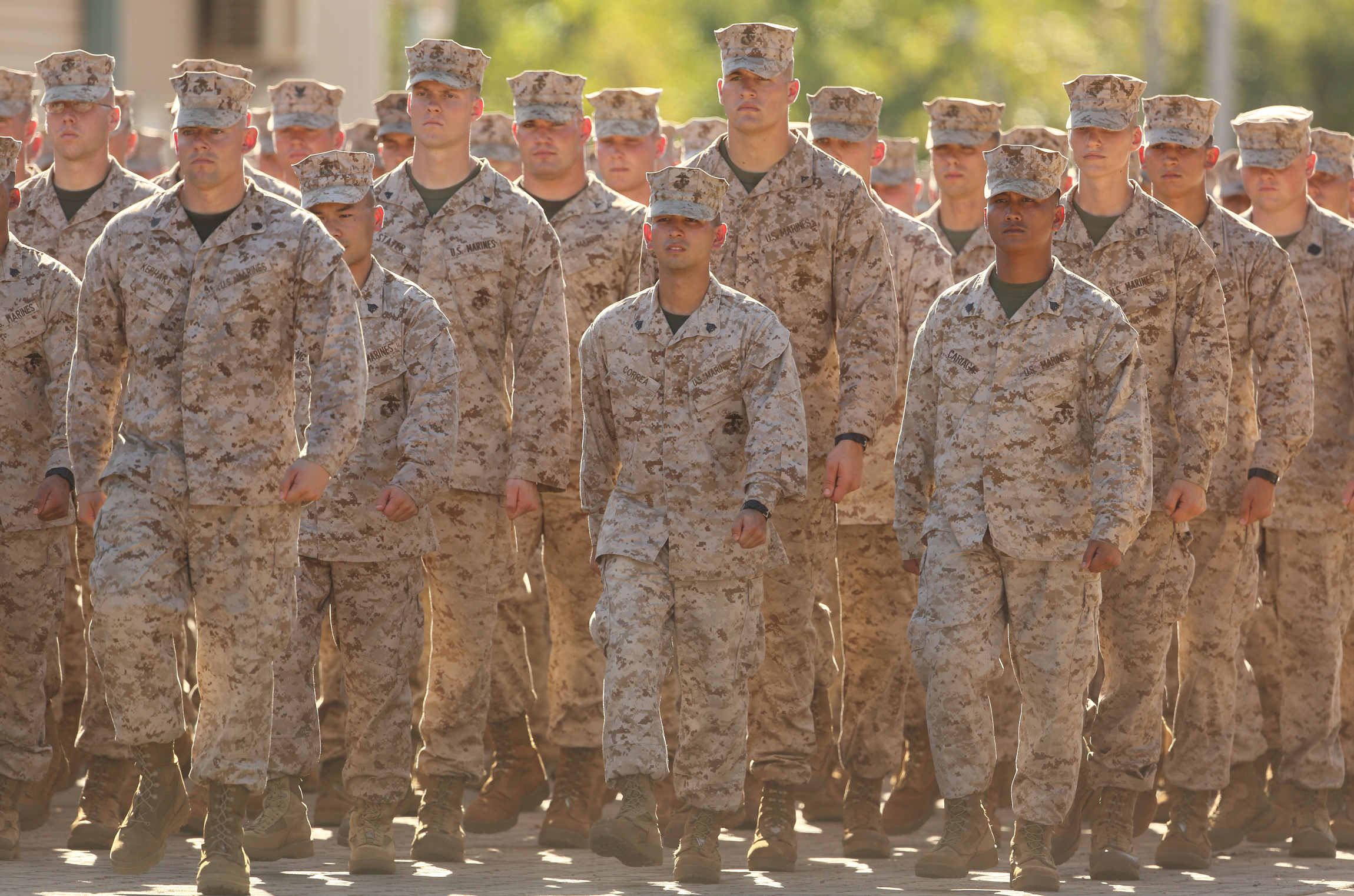 The first group of 200 U.S. Marines arrives at Darwin's Robertson Barracks for a 6-month training rotation, April 2012.