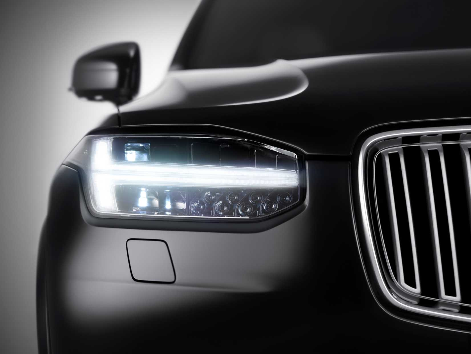 Front detail of Volvo's new XC90