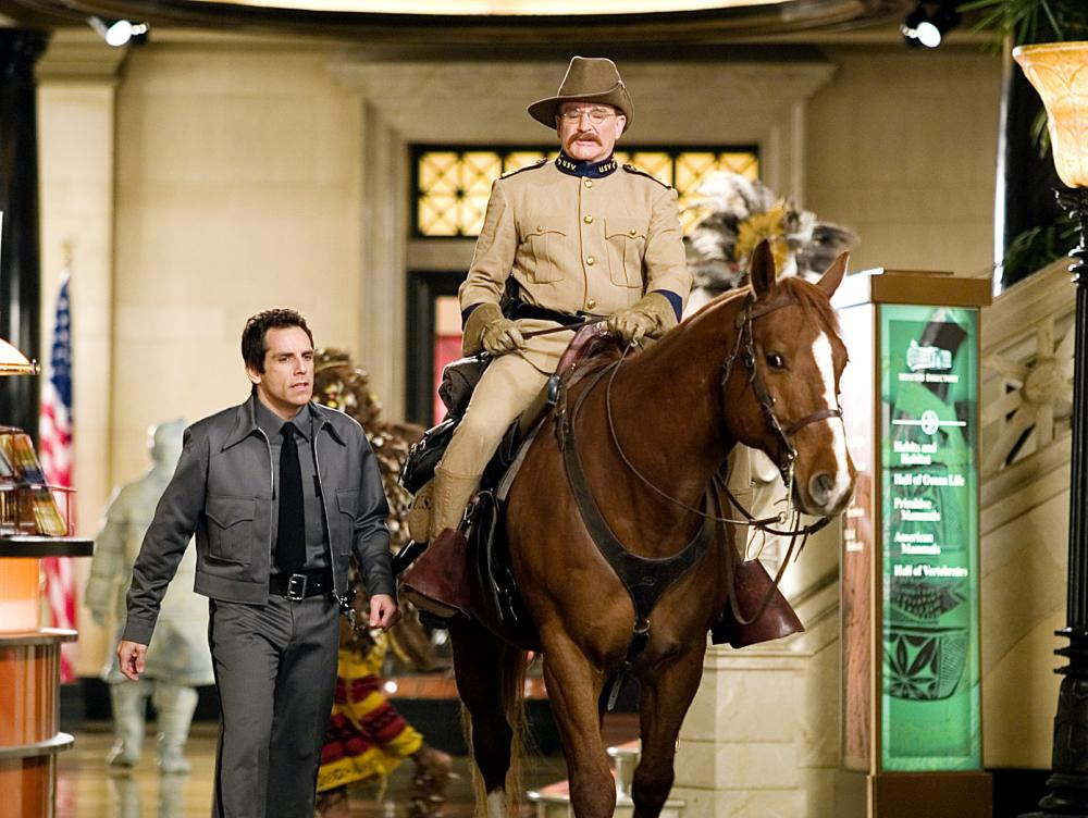 Williams took on the likeness of Teddy Roosevelt in Ben Stiller's <i>Night at the Museum</i>.