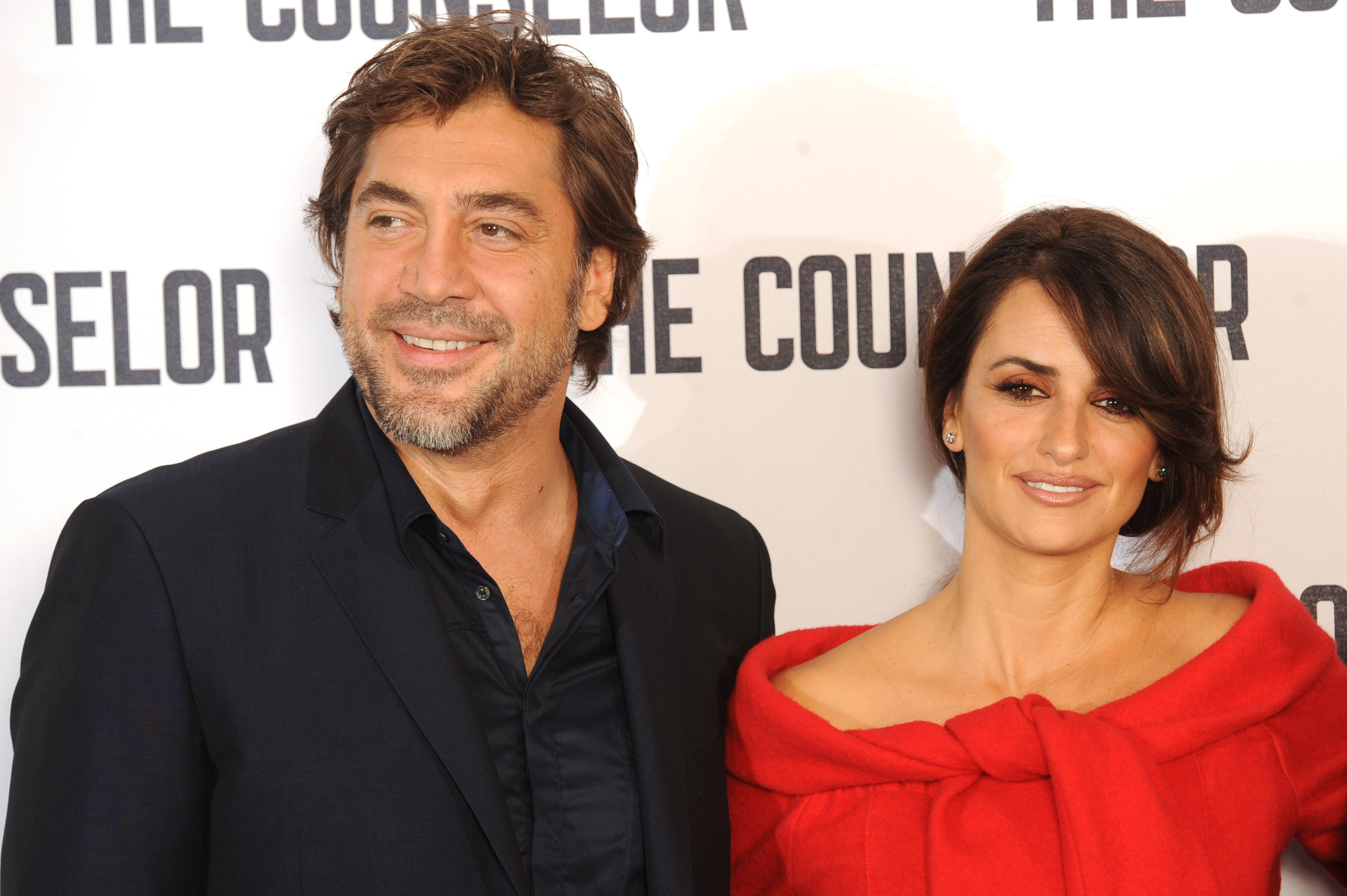 Javier Bardem and Penelope Cruz attend a photocall for 'The Counselor' at The Dorchester on October 5, 2013 in London, England.