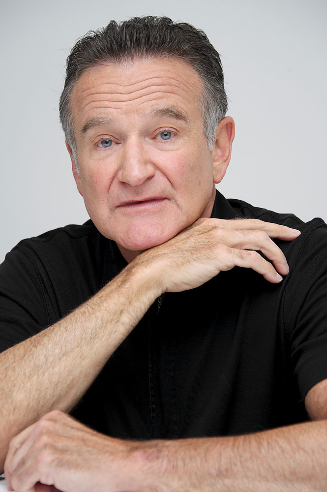 Robin Williams at  The Crazy Ones  Press Conference at the Four Seasons Hotel on Oct. 8, 2013 in Beverly Hills.