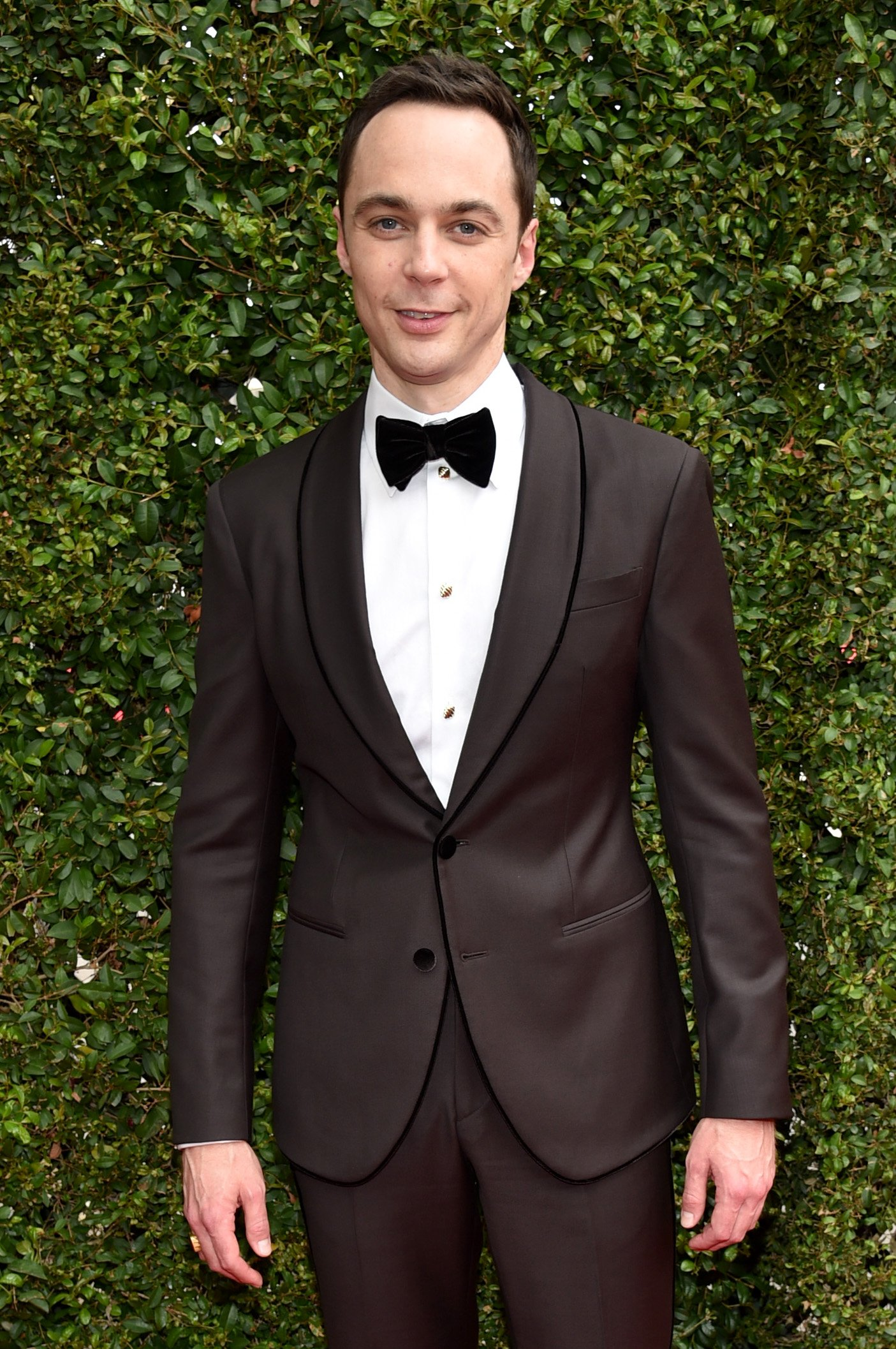 Jim Parsons arrives at the 66th Primetime Emmy Awards at the Nokia Theatre L.A. Live on Monday, Aug. 25, 2014, in Los Angeles.