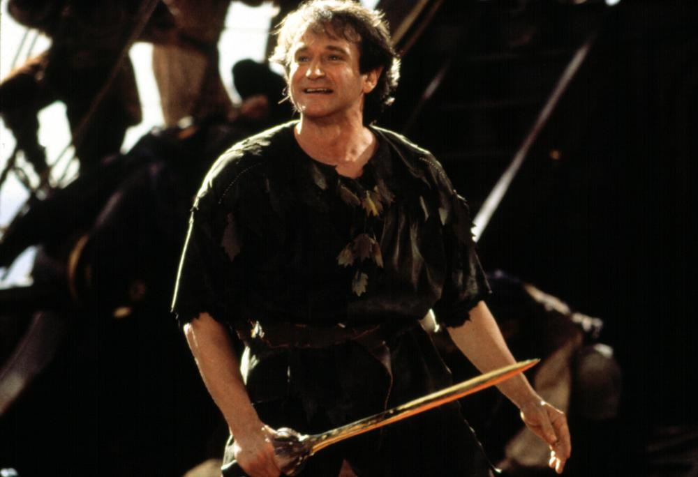 Robin Williams in Hook in 1991.