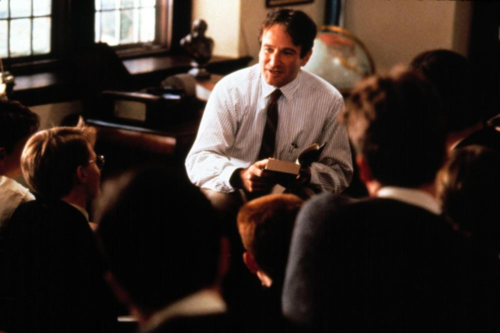 Williams taught a generation to seize the day, to make their lives extraordinary, as John Keating in <i>Dead Poets Society</i>.