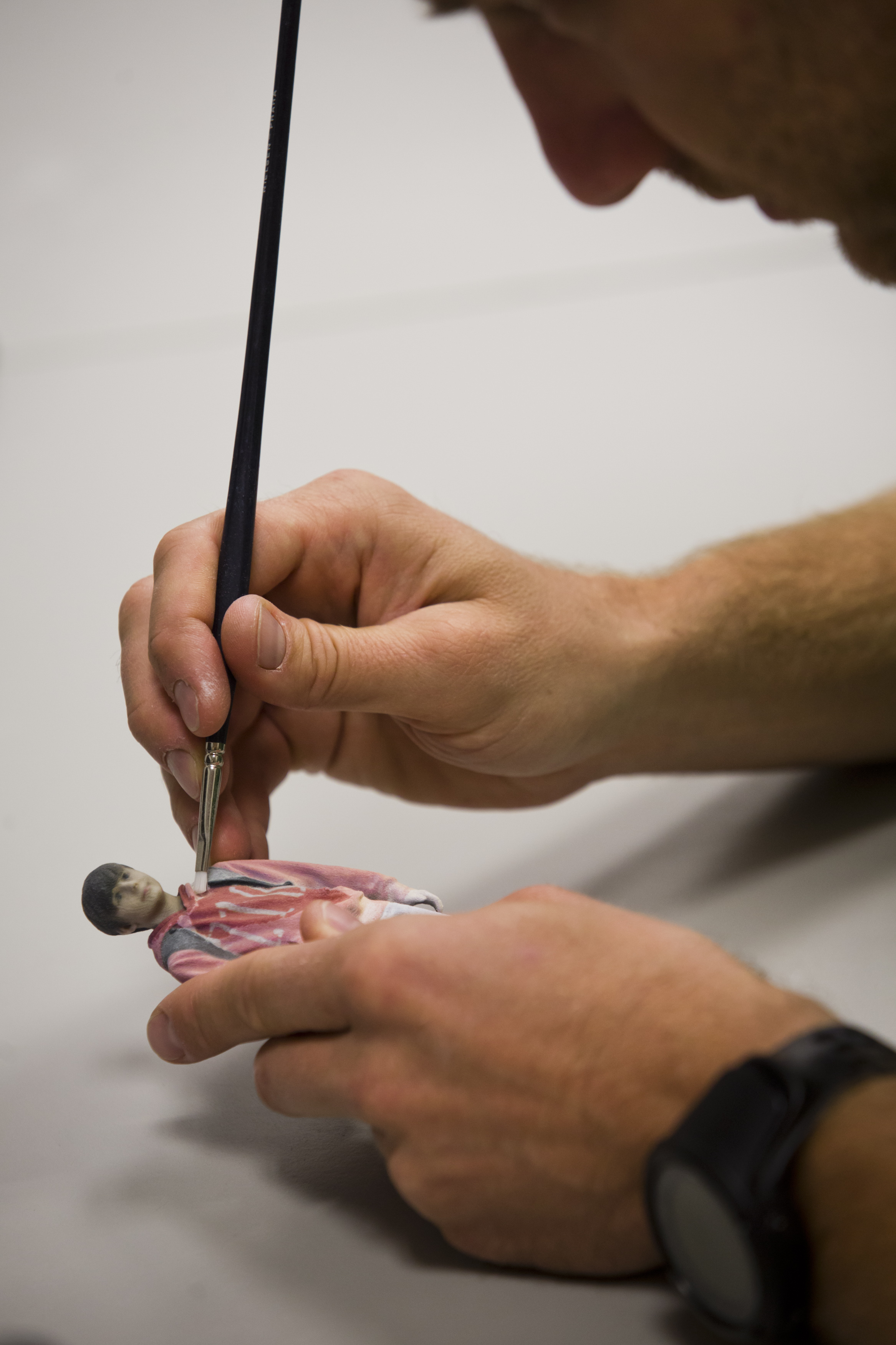 Martin Benes from 3D gang company demonstrates one of the stages of 3D scanning on August 26, 2014 in Prague, Czech Republic.
