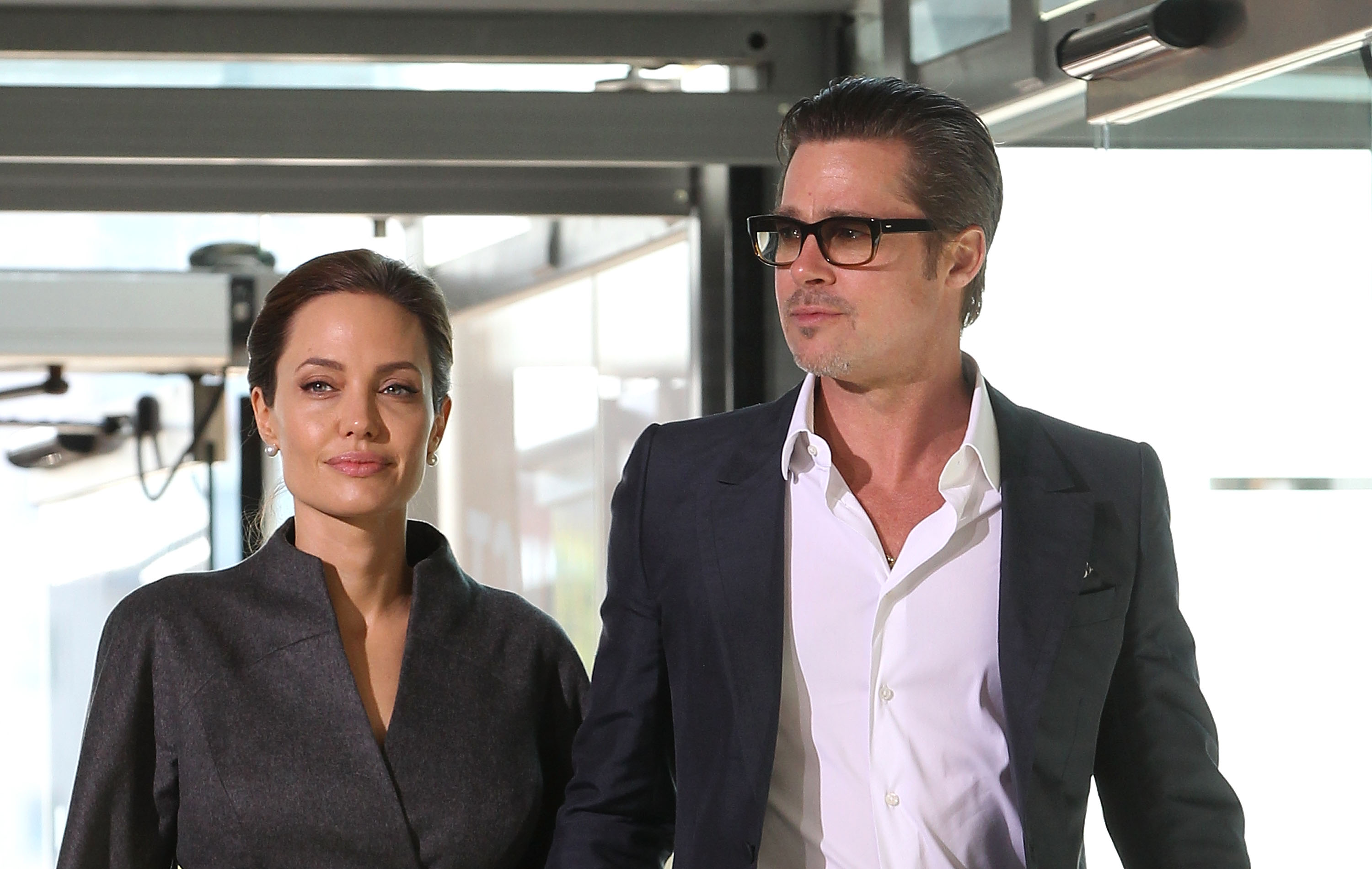 Brad Pitt and Angelina Jolie attend the Global Summit to end Sexual Violence in Conflict at ExCel on June 13, 2014 in London, England.