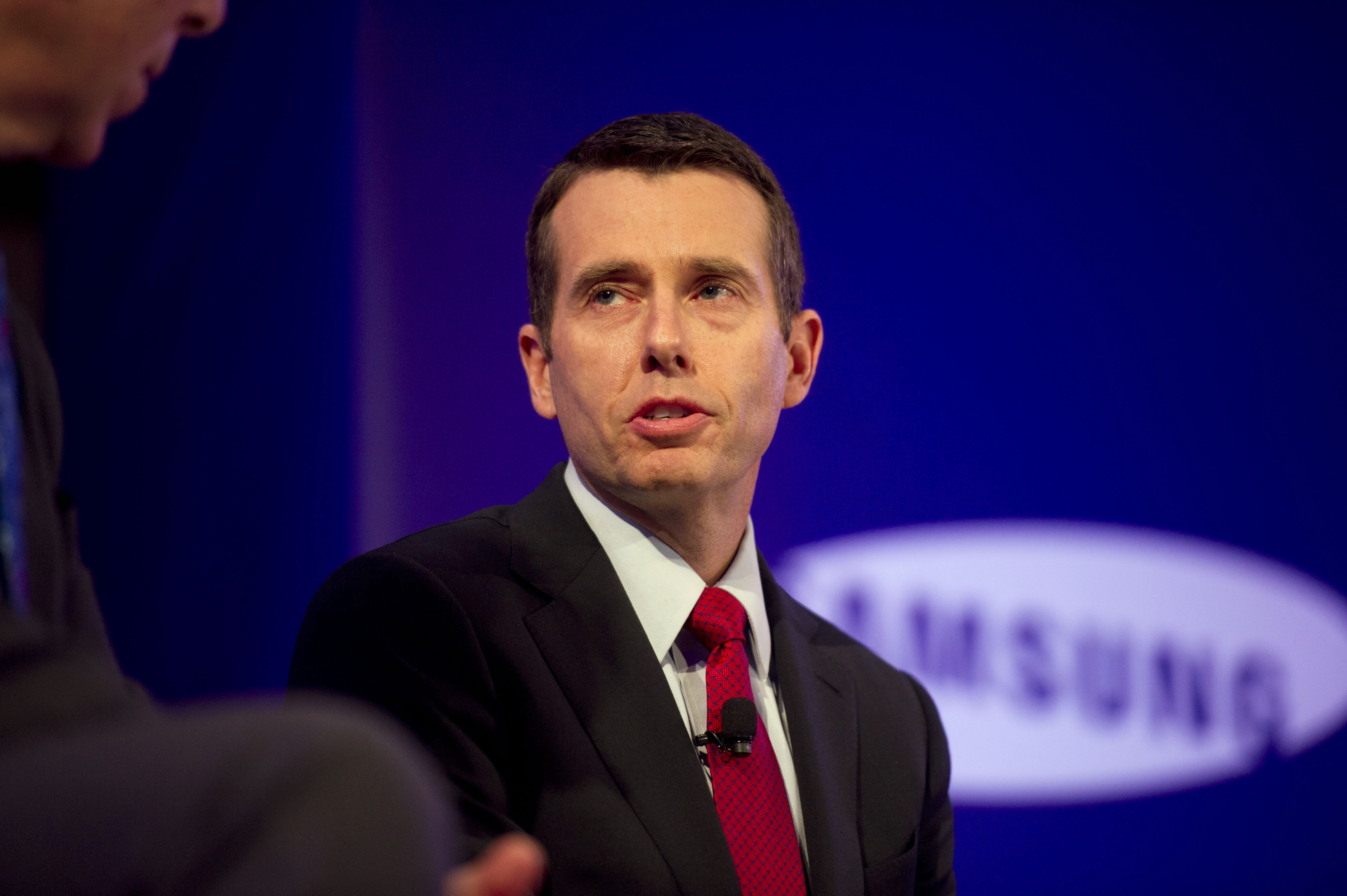 David Plouffe, former senior adviser to U.S. President Barack Obama and Bloomberg News analyst, speaks at the Bloomberg Year Ahead: 2014 conference in Chicago, Illinois, U.S., on Nov. 20, 2013.