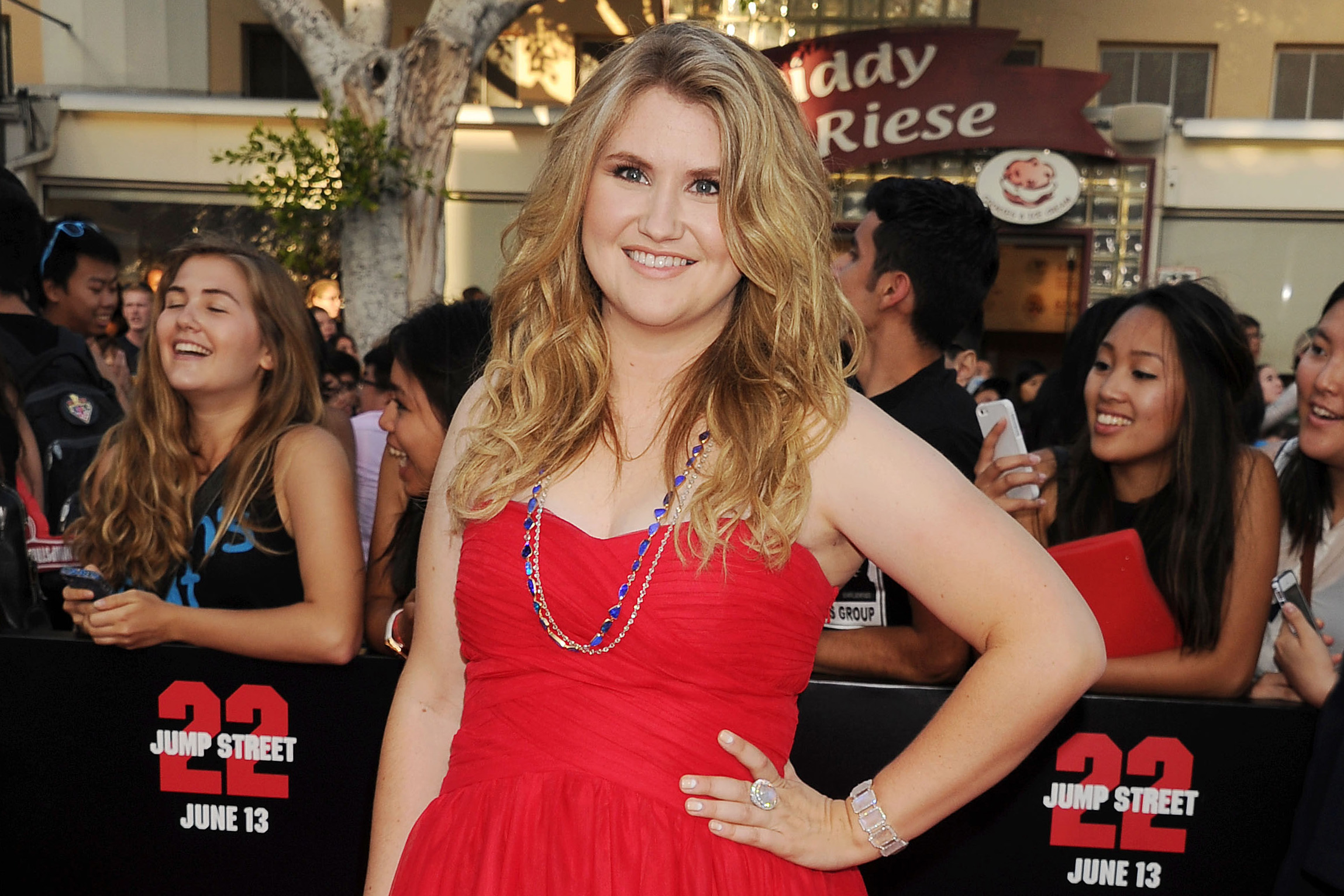 Actress Jillian Bell arrives at the Los Angeles premiere of '22 Jump Street' at Regency Village Theatre on June 10, 2014 in Westwood, California.