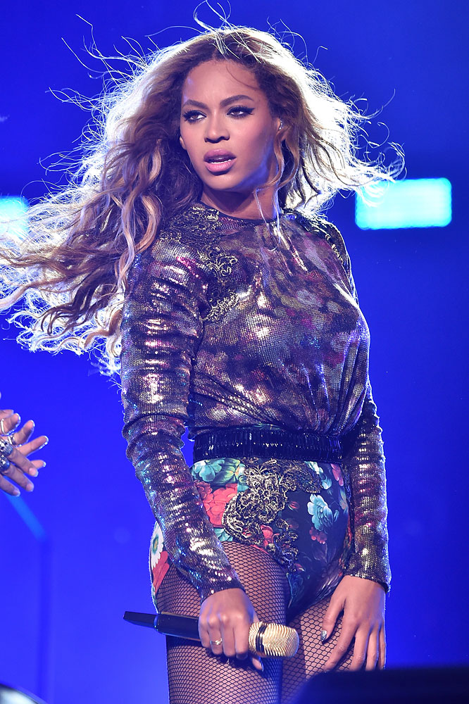 Beyonce performs during the  On The Run Tour: Beyonce And Jay-Z  at Minute Maid Park on July 18, 2014 in Houston.